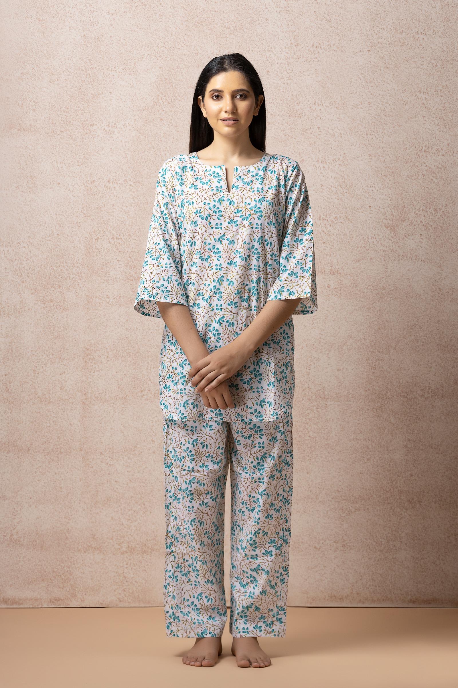 Water Colours Cotton Night Suit