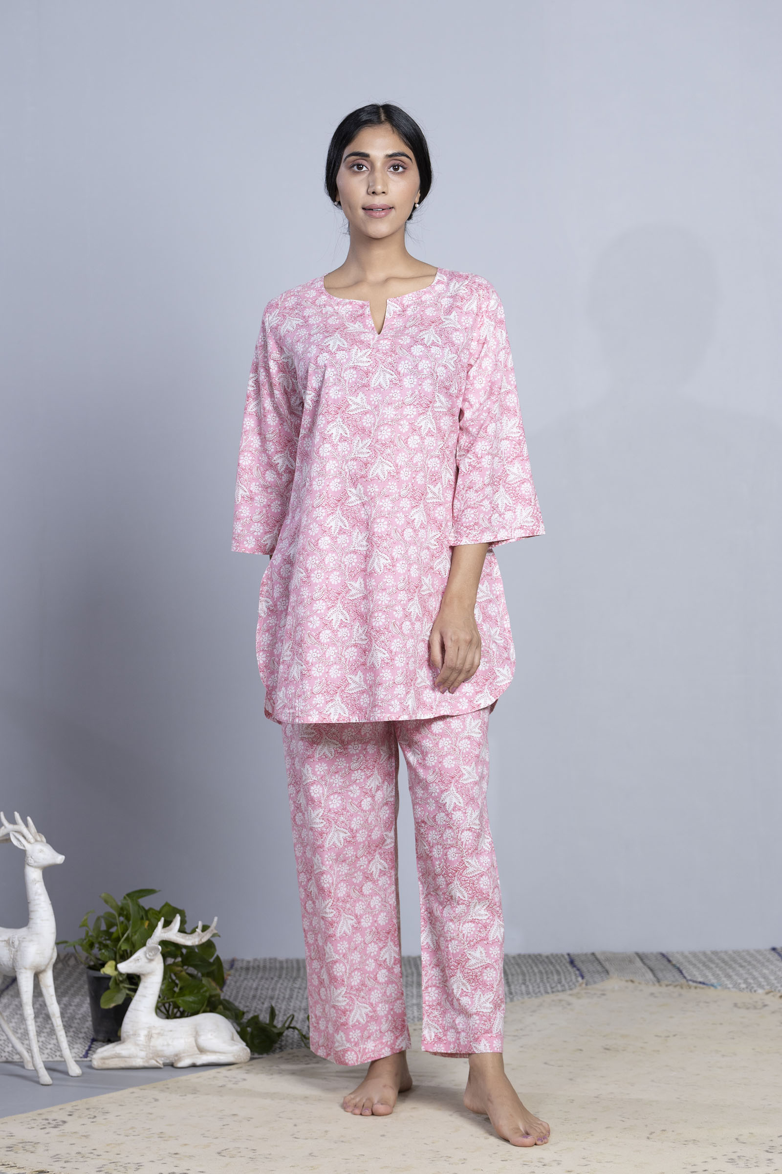 Zoom Meeting Cotton Night Suit