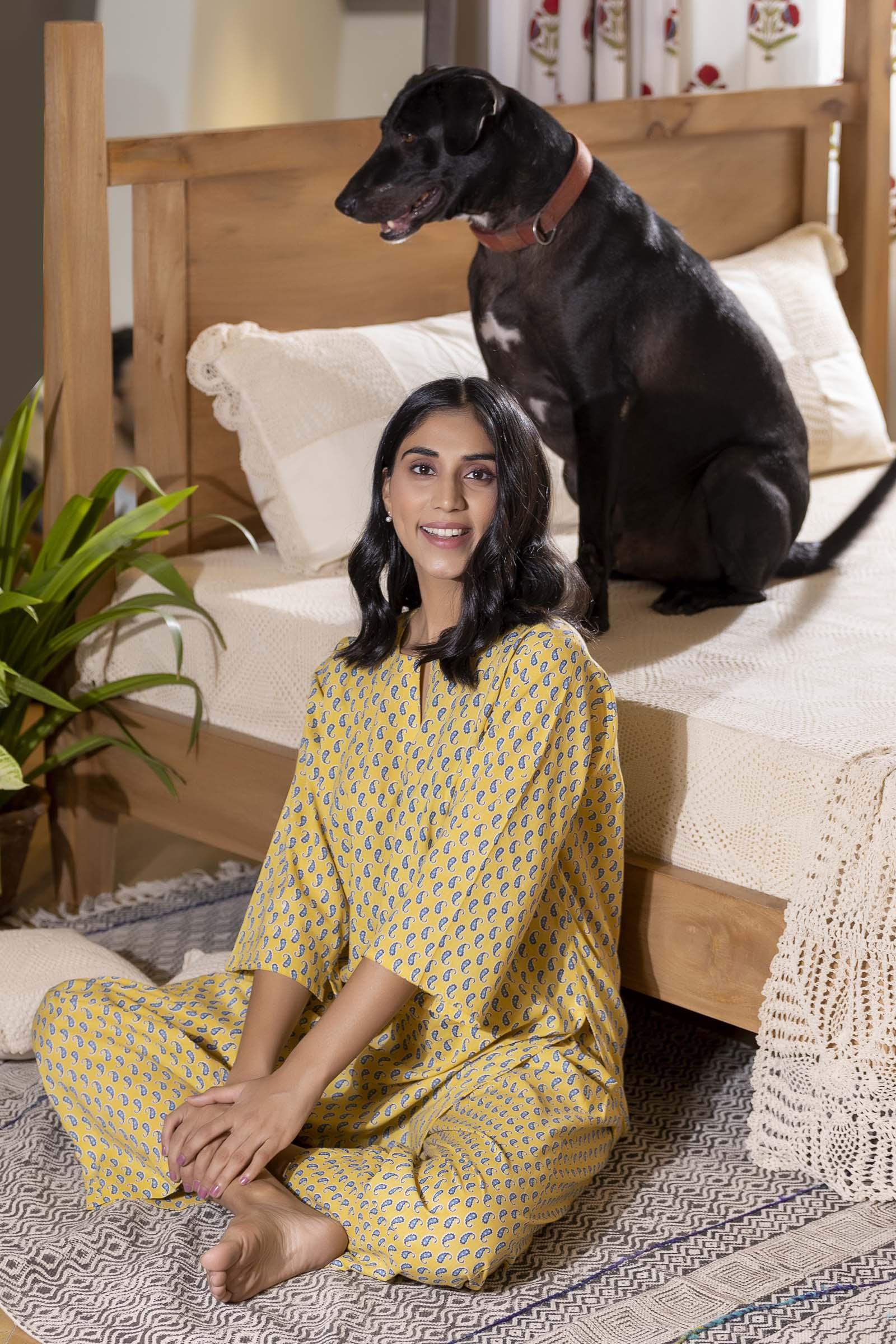 Choti Paisley Cotton Night Suit
