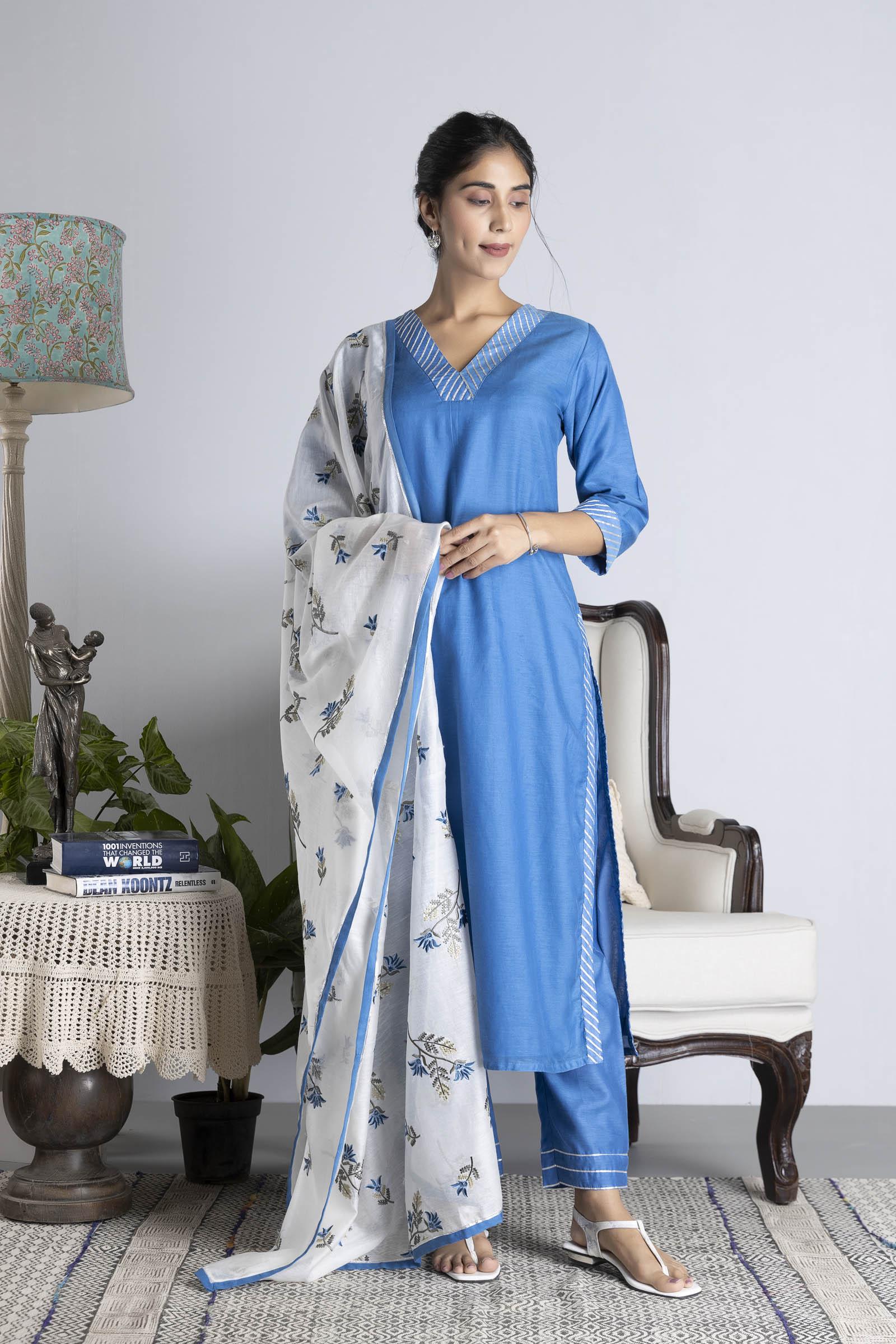 Iris Chanderi Dupatta