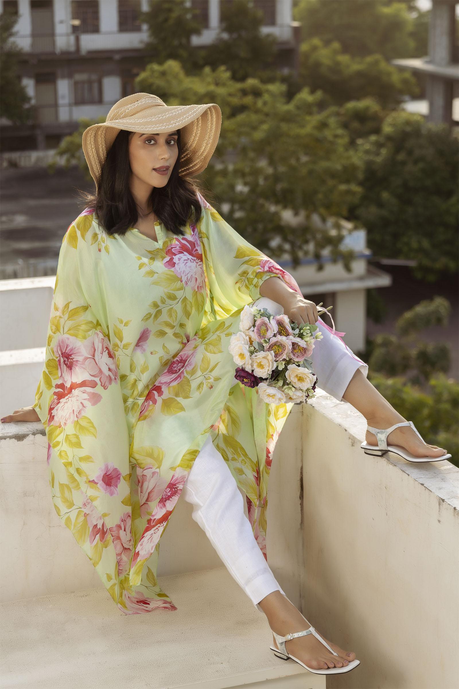 Sunshine Silk Kaftan
