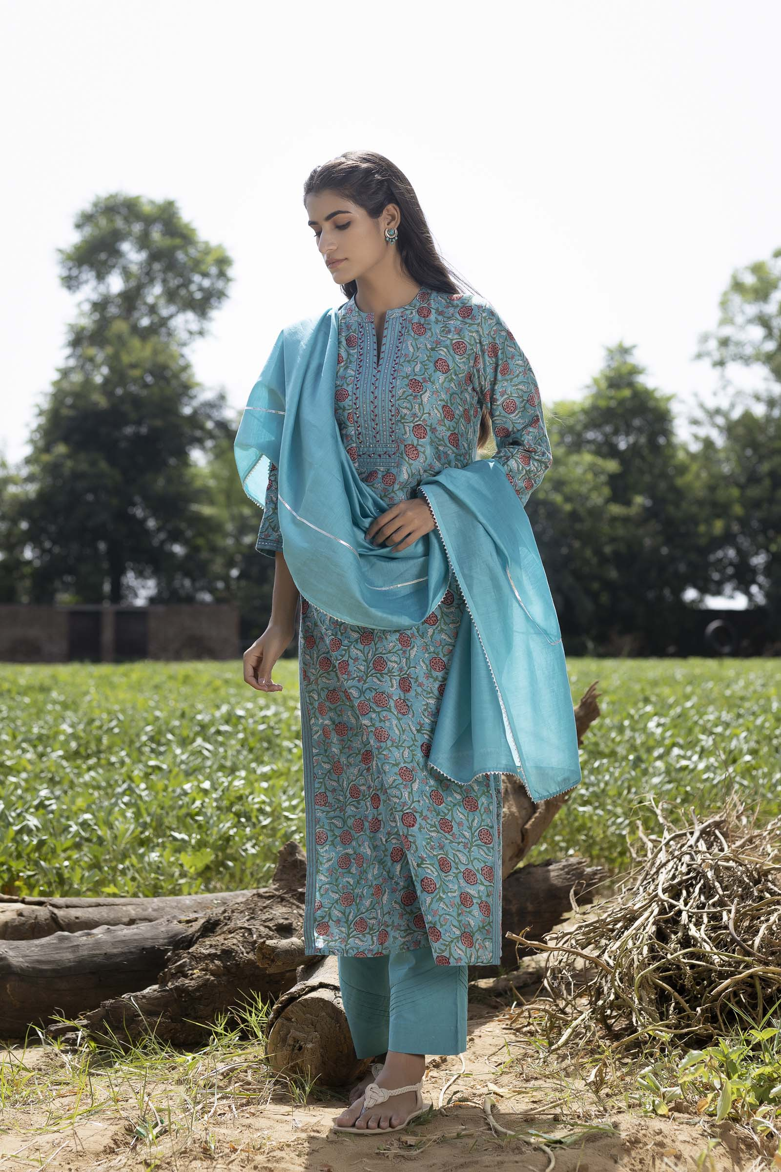 Marigold Chanderi Kurta