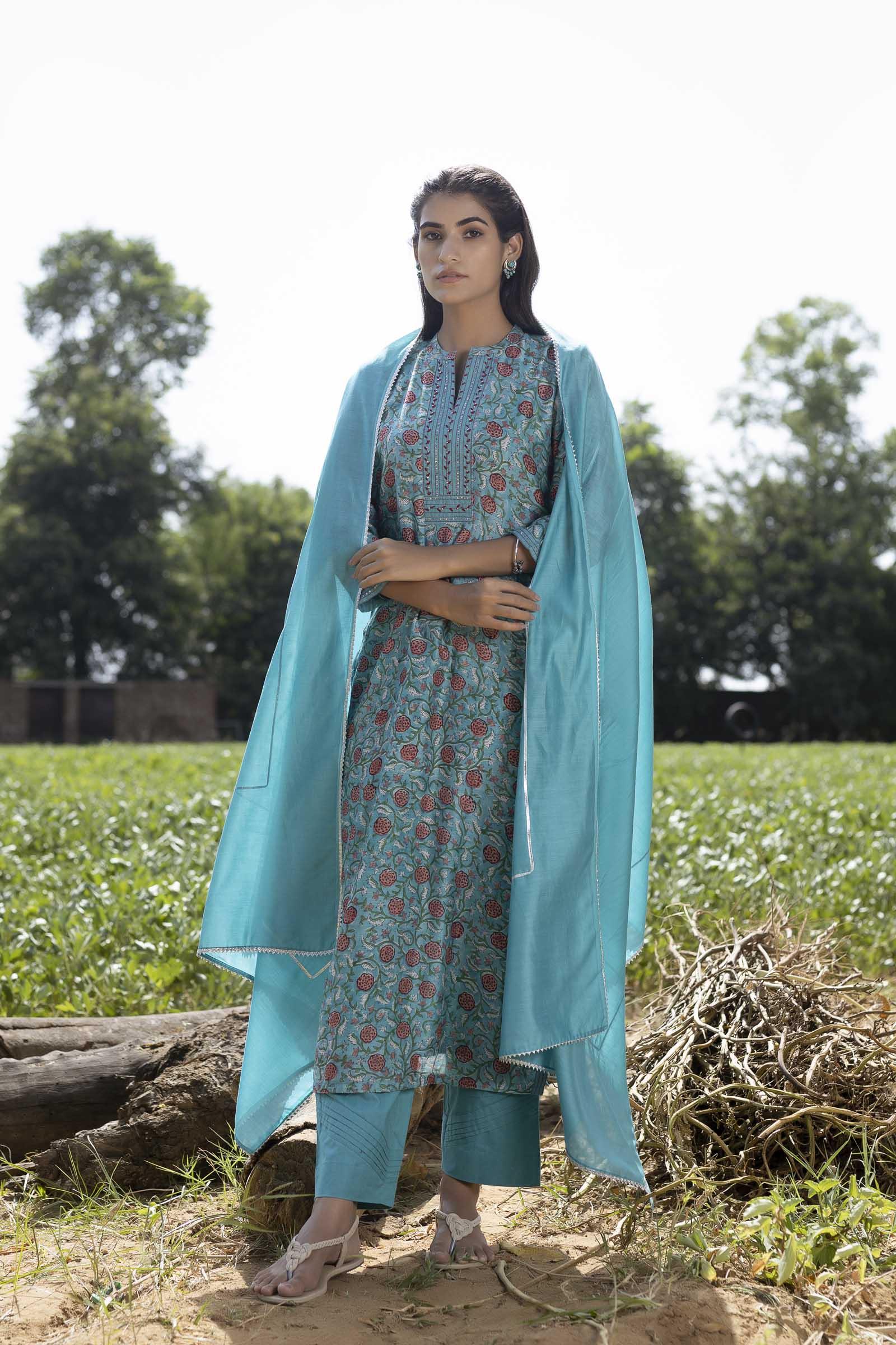 Marigold Chanderi Dupatta