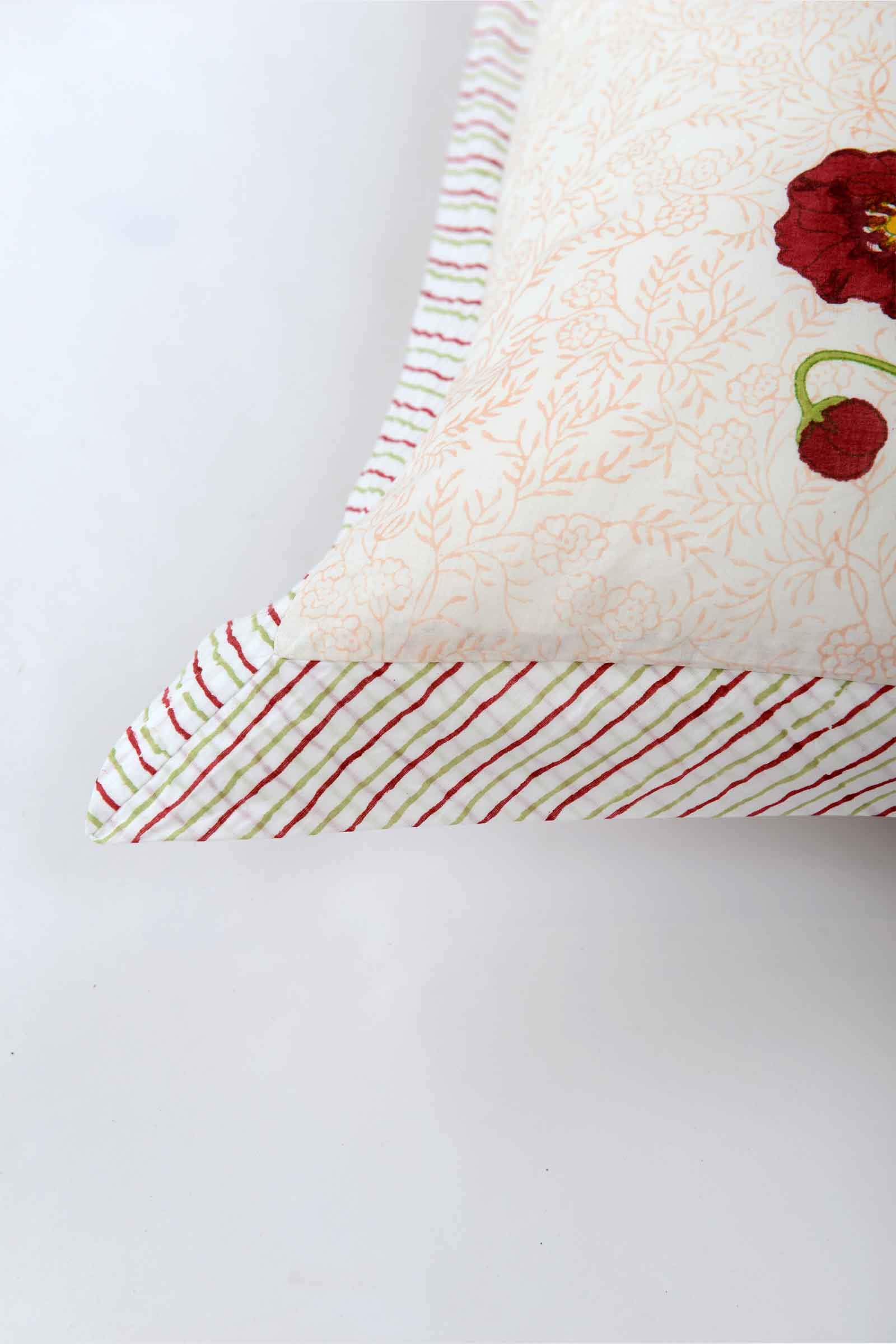 Red Poppies Pillow Cover Set of 2
