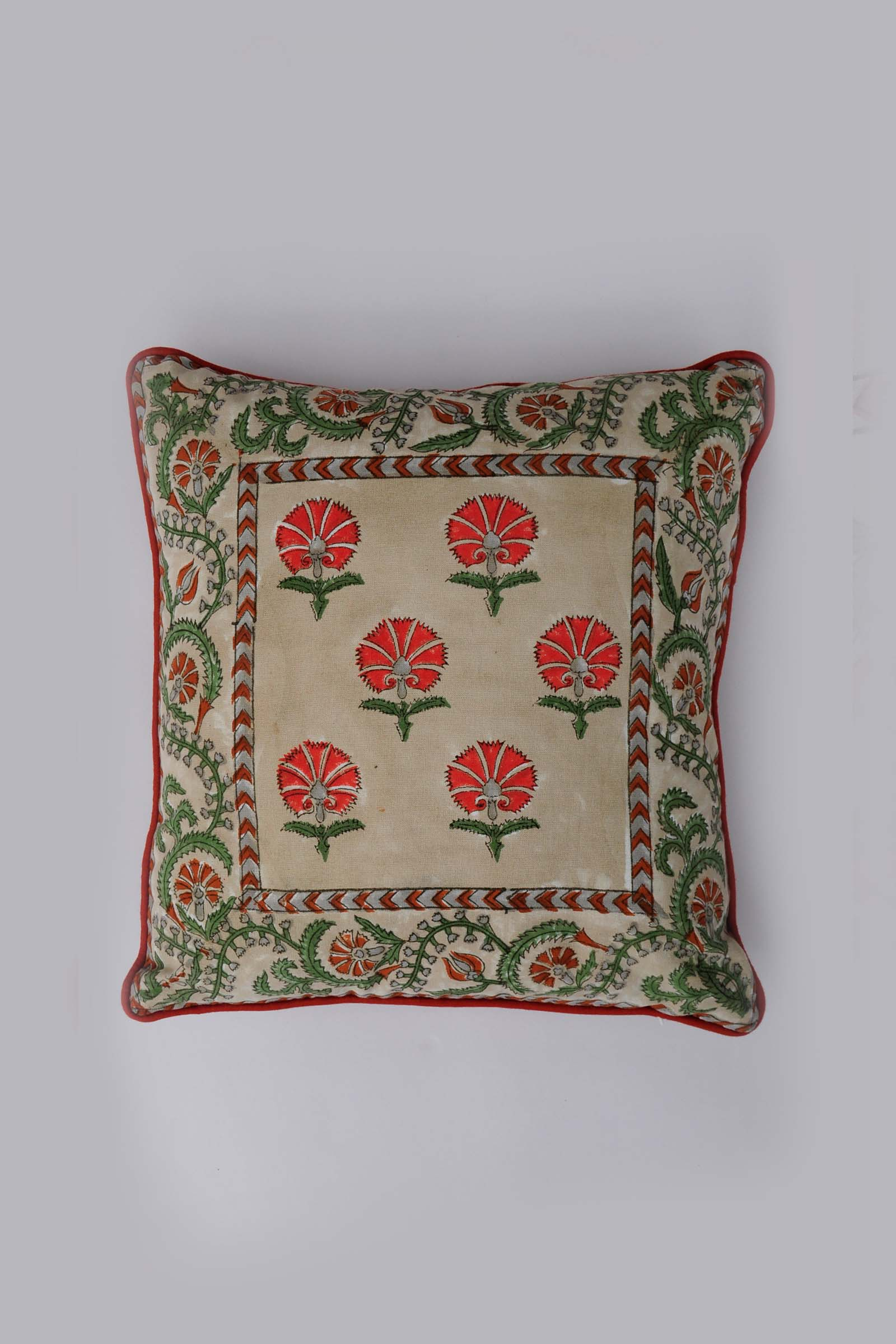 Suzani In Rust 12*12 Cushion Cover