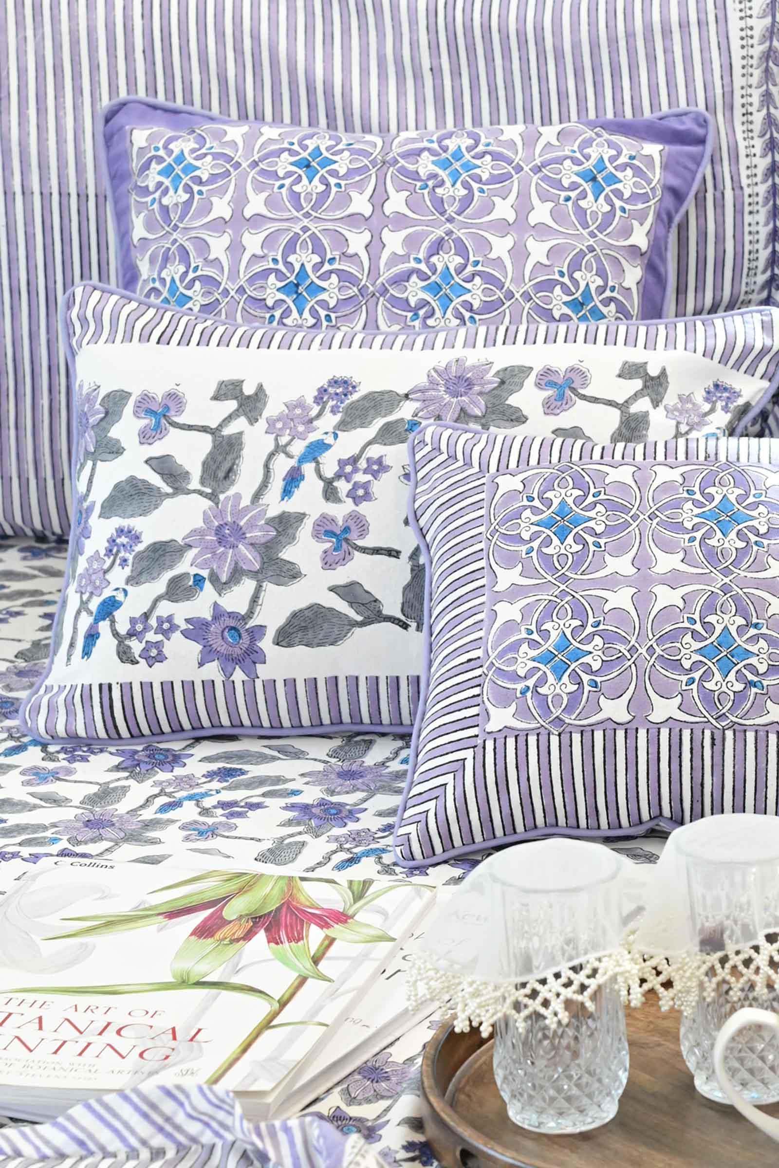 Artistic Lavender 12*18 Cushion Cover