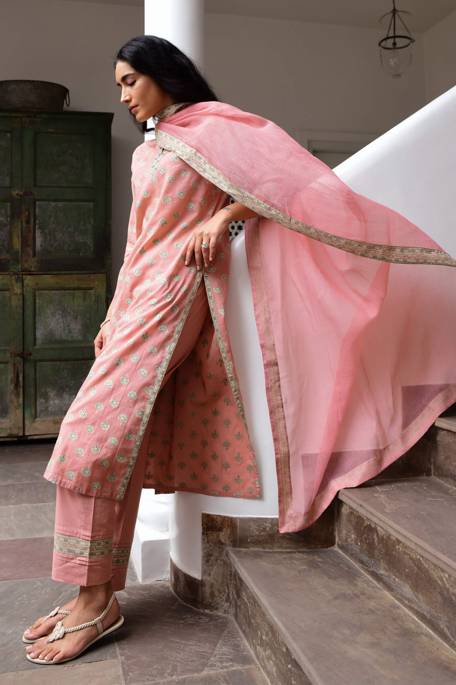 Tropical Peach Dupatta