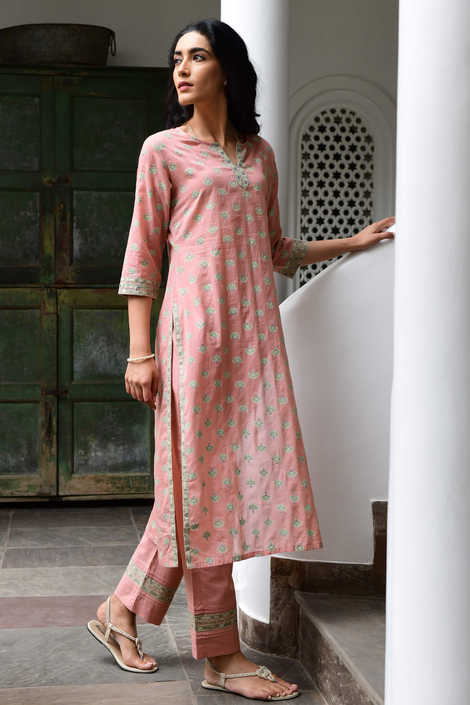 Tropical Peach Kurta
