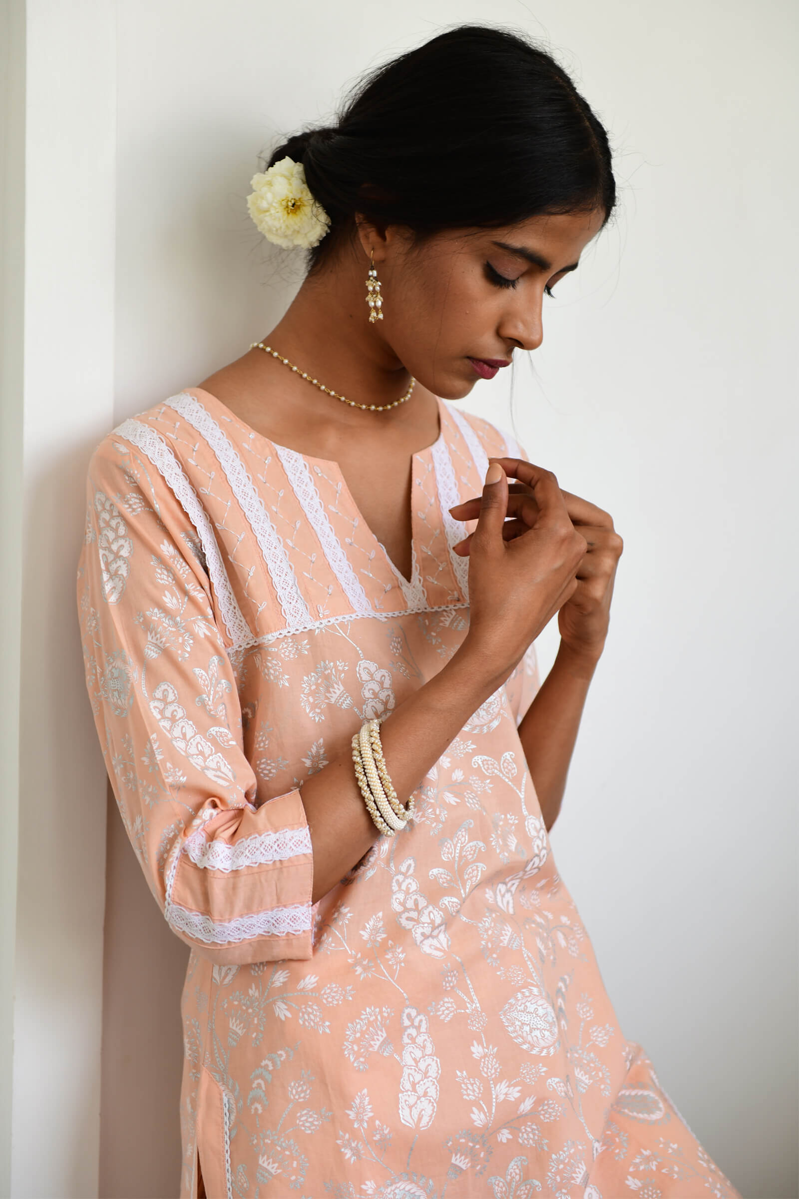 Summer Sparkles Blush Kurta