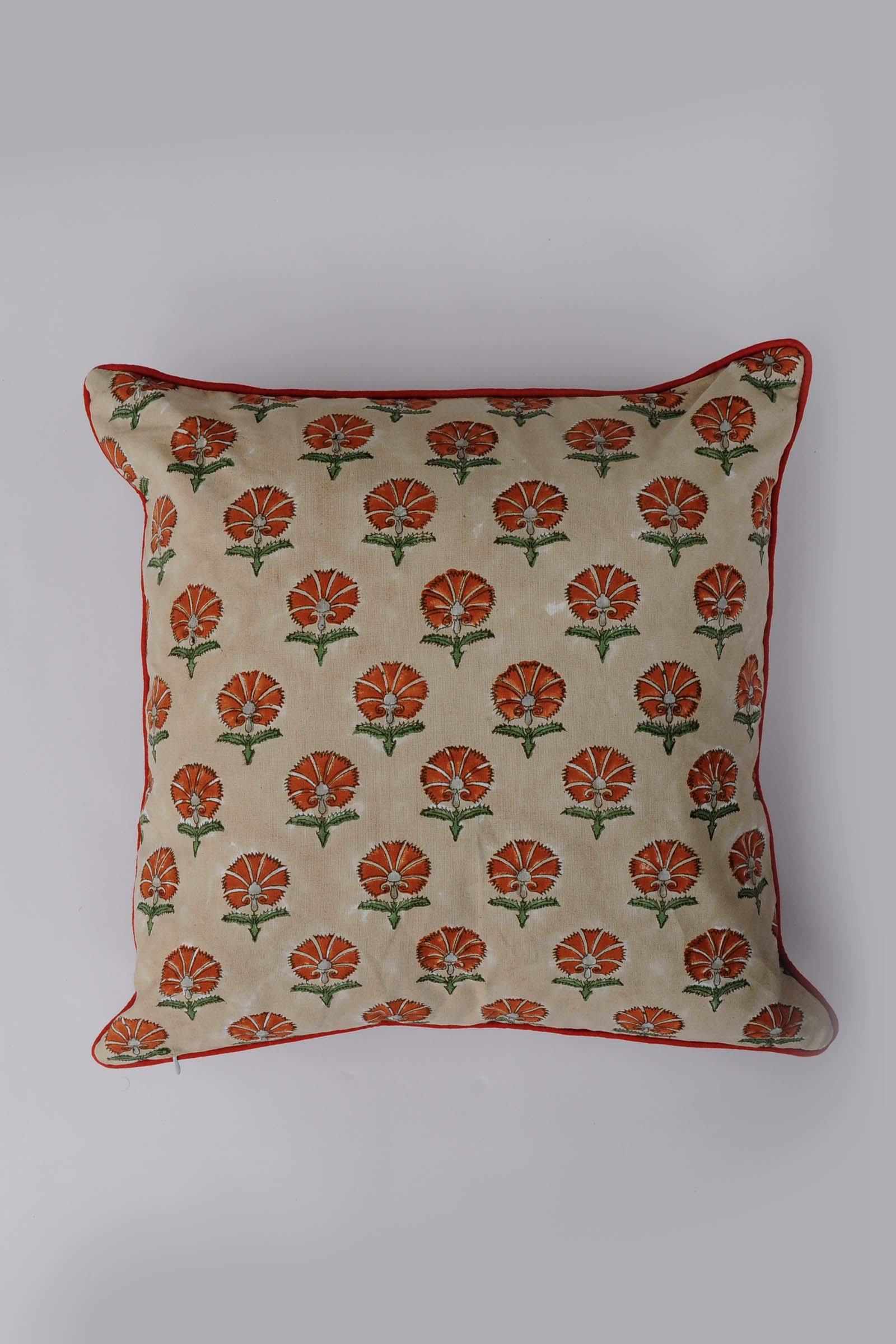 Suzani In Rust 16*16 Cushion Cover