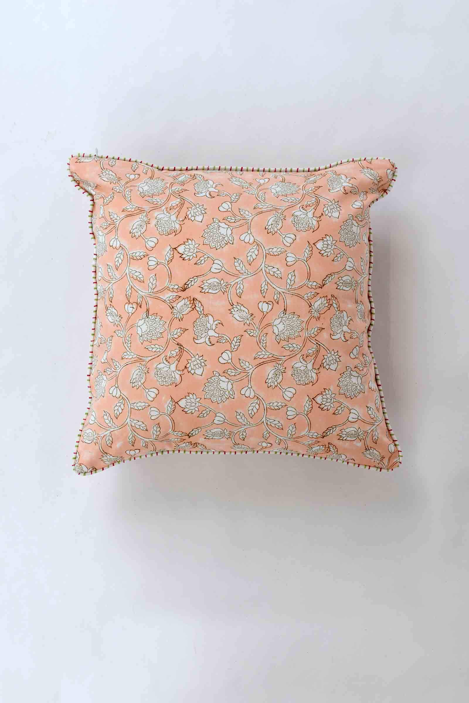 Poetic Summer 16*16 Cushion Cover