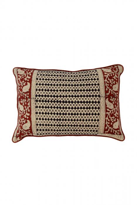 Vrindavan Geometric Cushion Cover