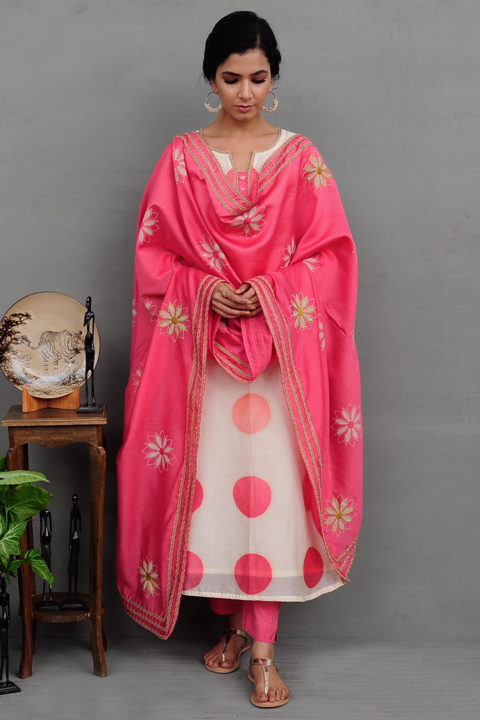 50 Shades Of Pink Chanderi Kurta