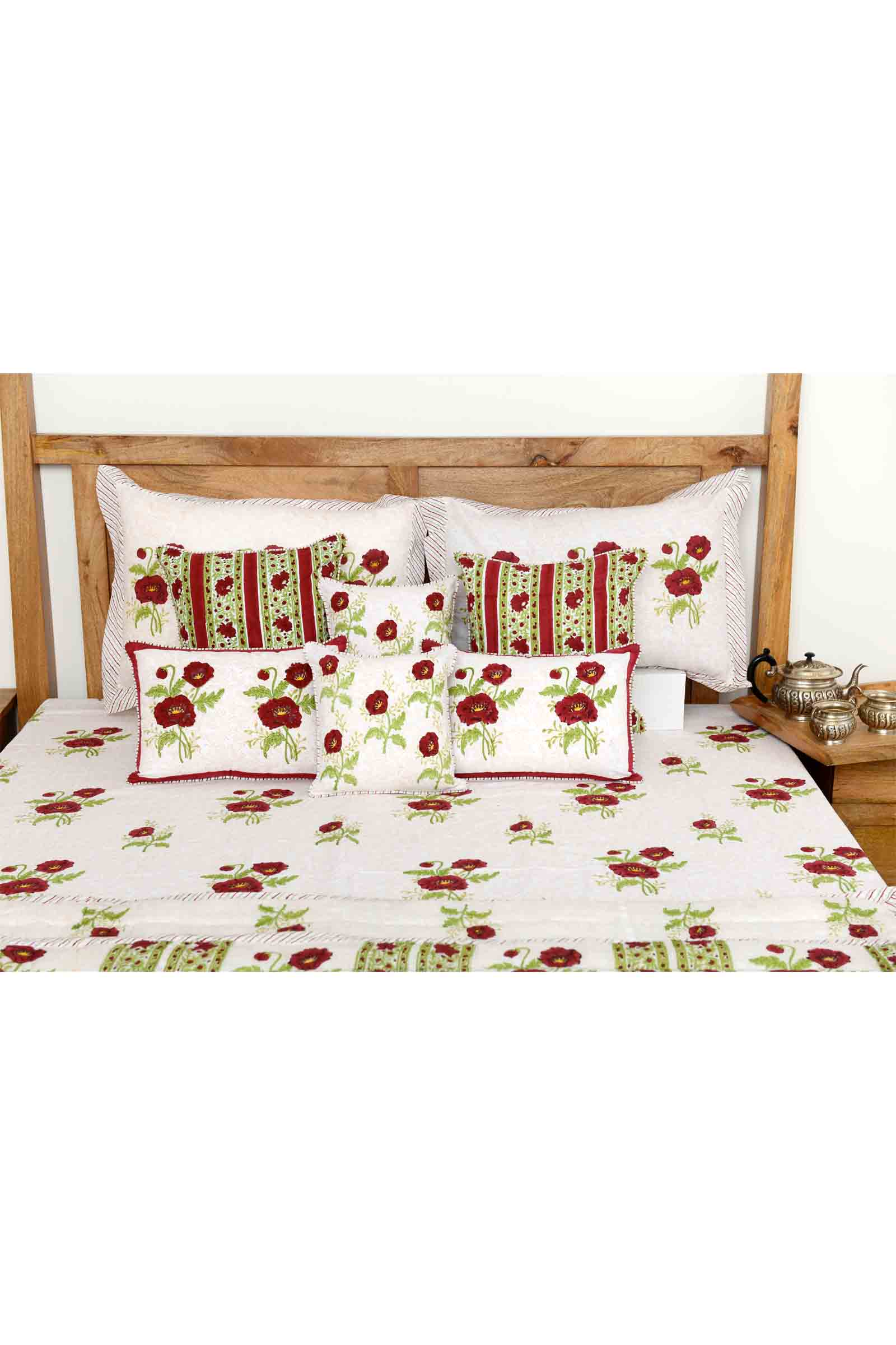 Red Poppies Bed Cover