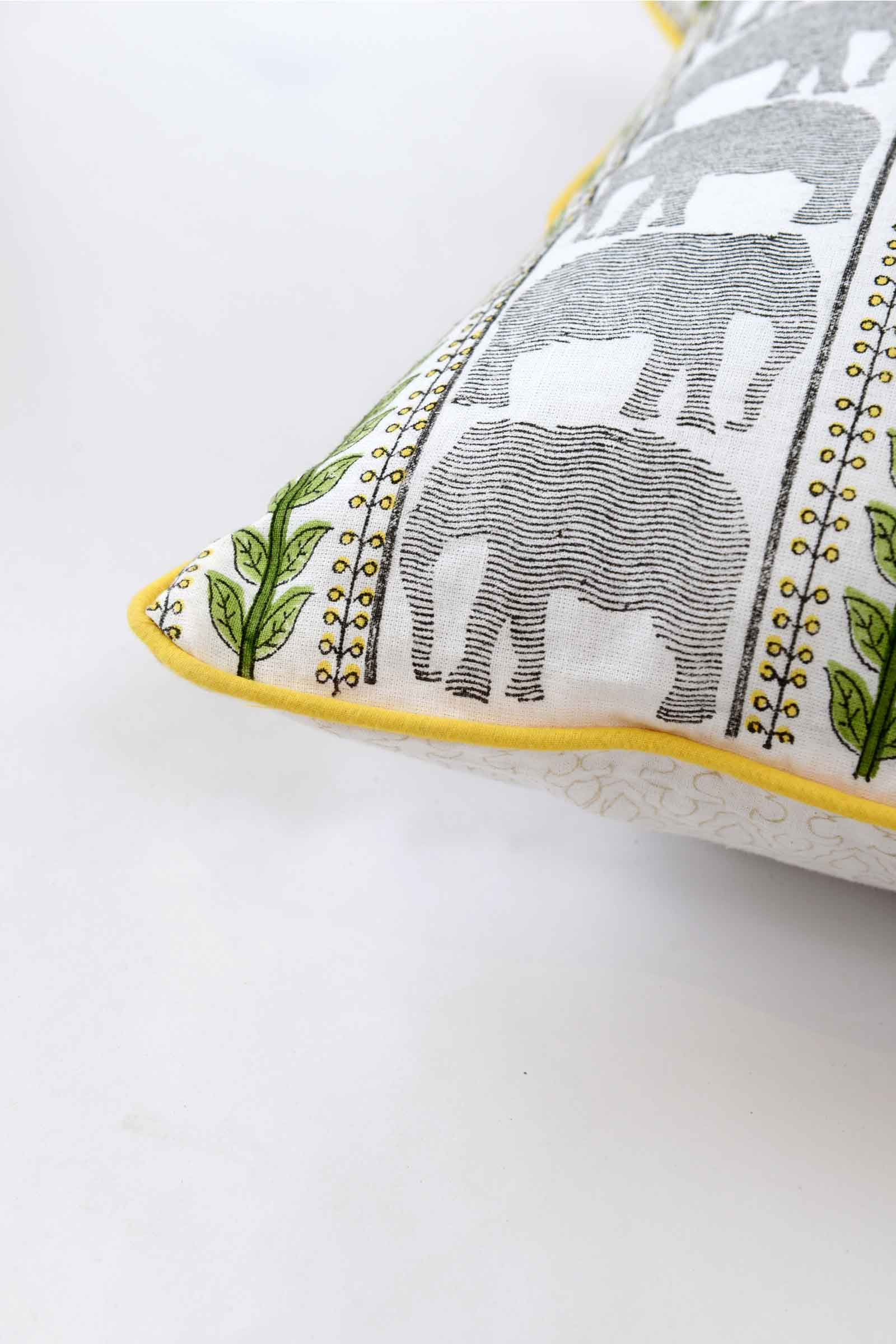 Thekkady Elephant Cushion Cover