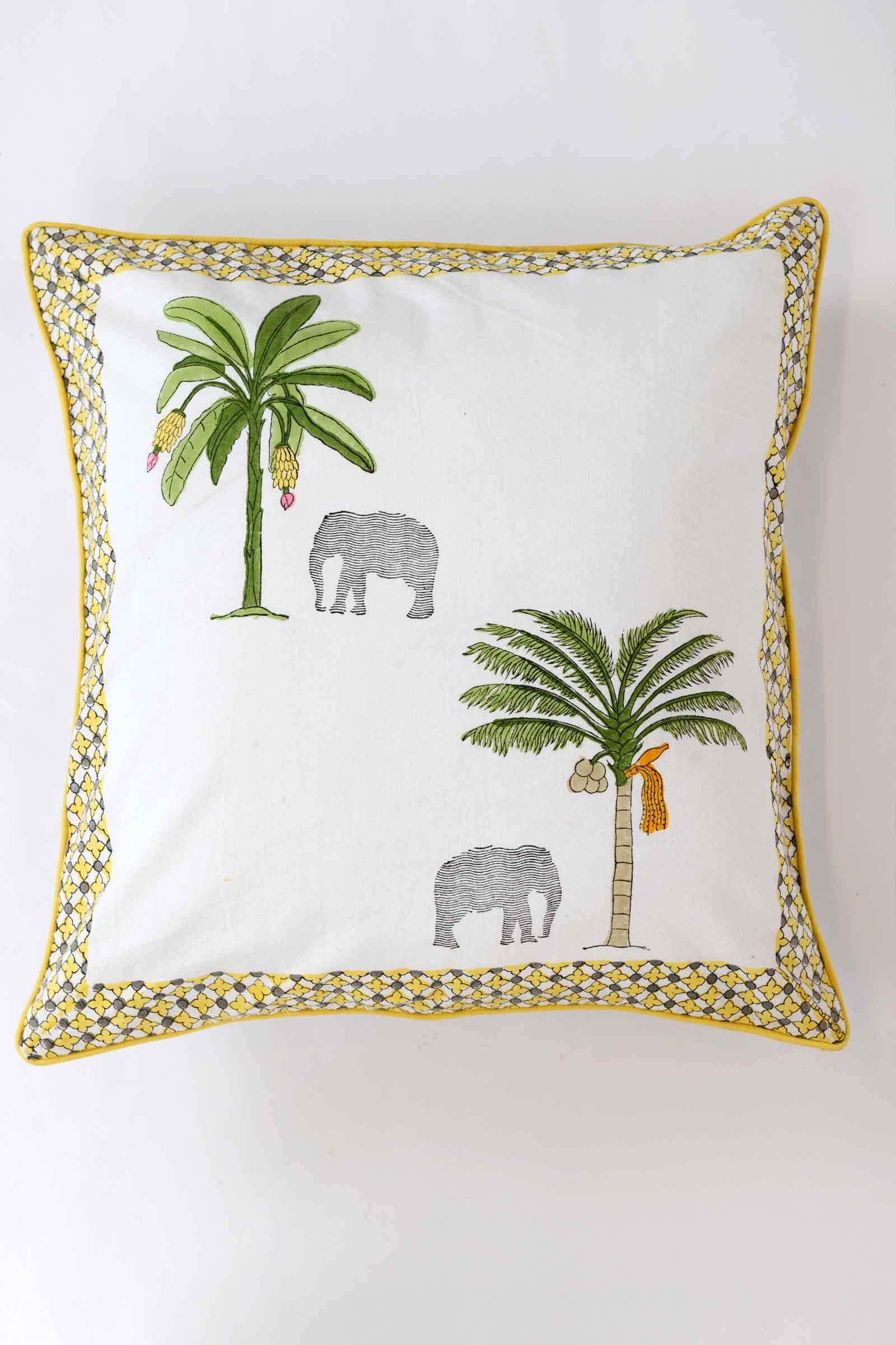 Thekkady Two Tree Cushion Cover