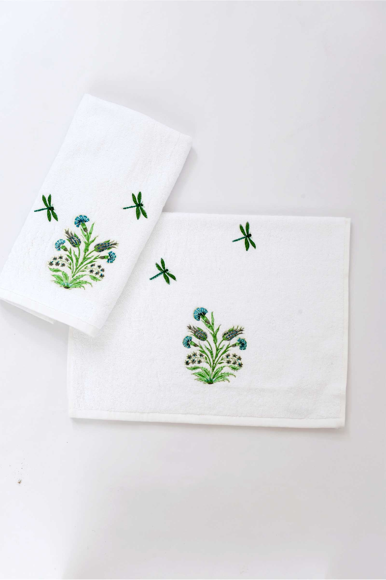 Mughal garden hand towel (set of 2)