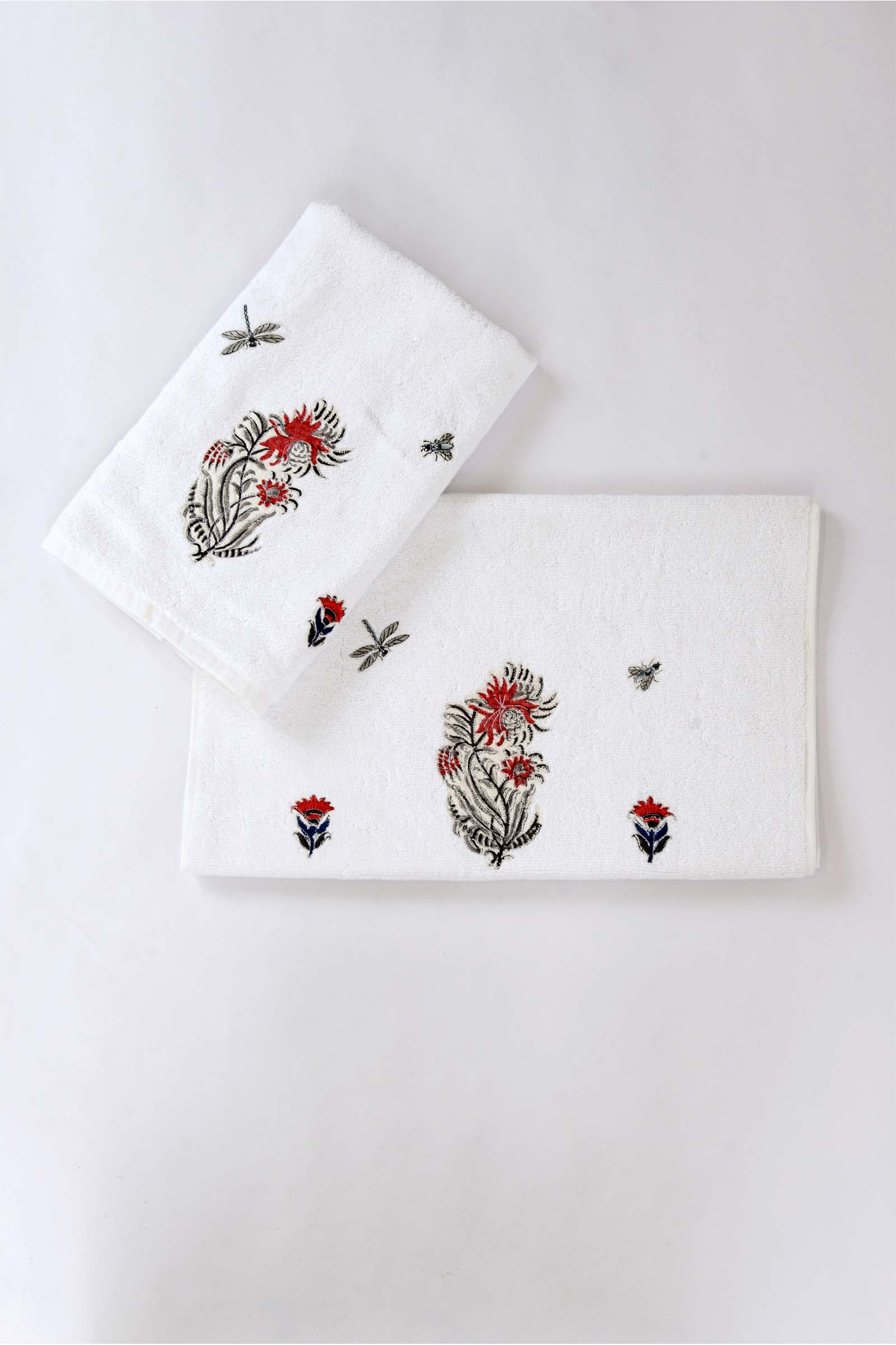 Egypt rose hand towel (set of 2)