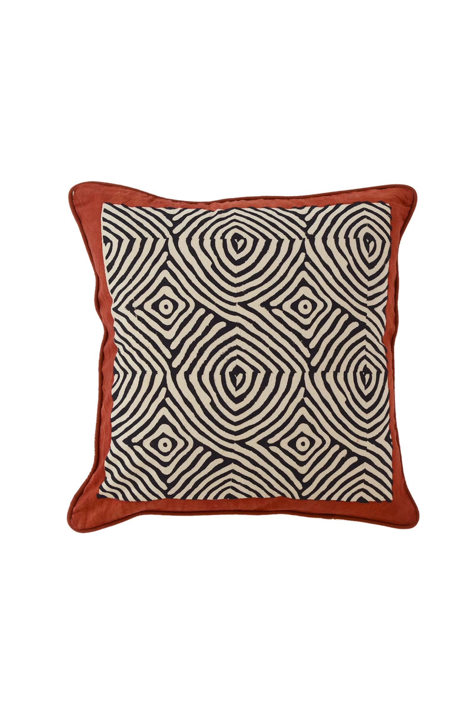 Vrindavan Spiral  Cushion Cover