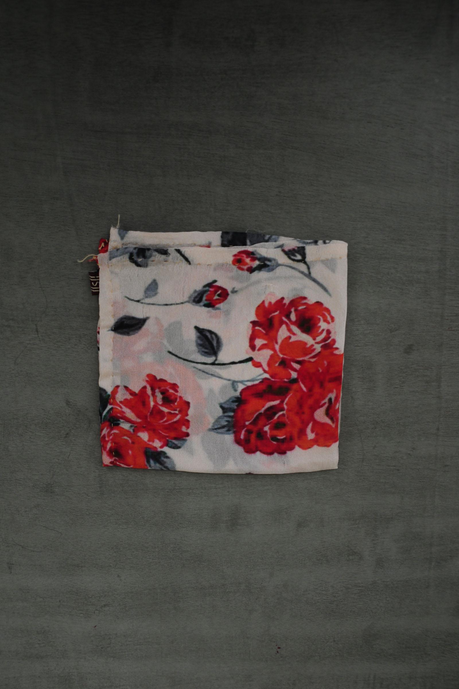 Red Roses Pocket Square