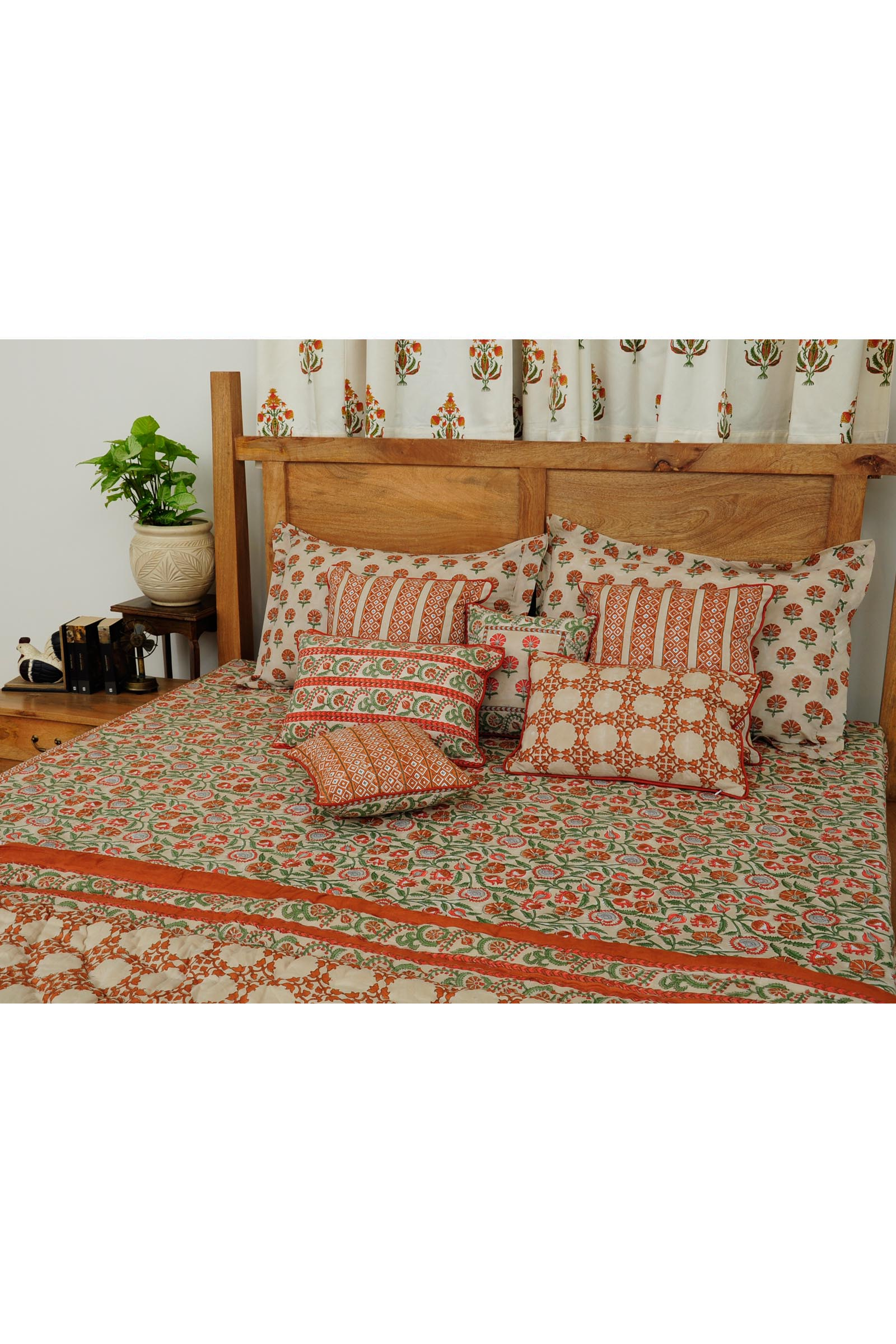 Suzani In Rust Bed Cover