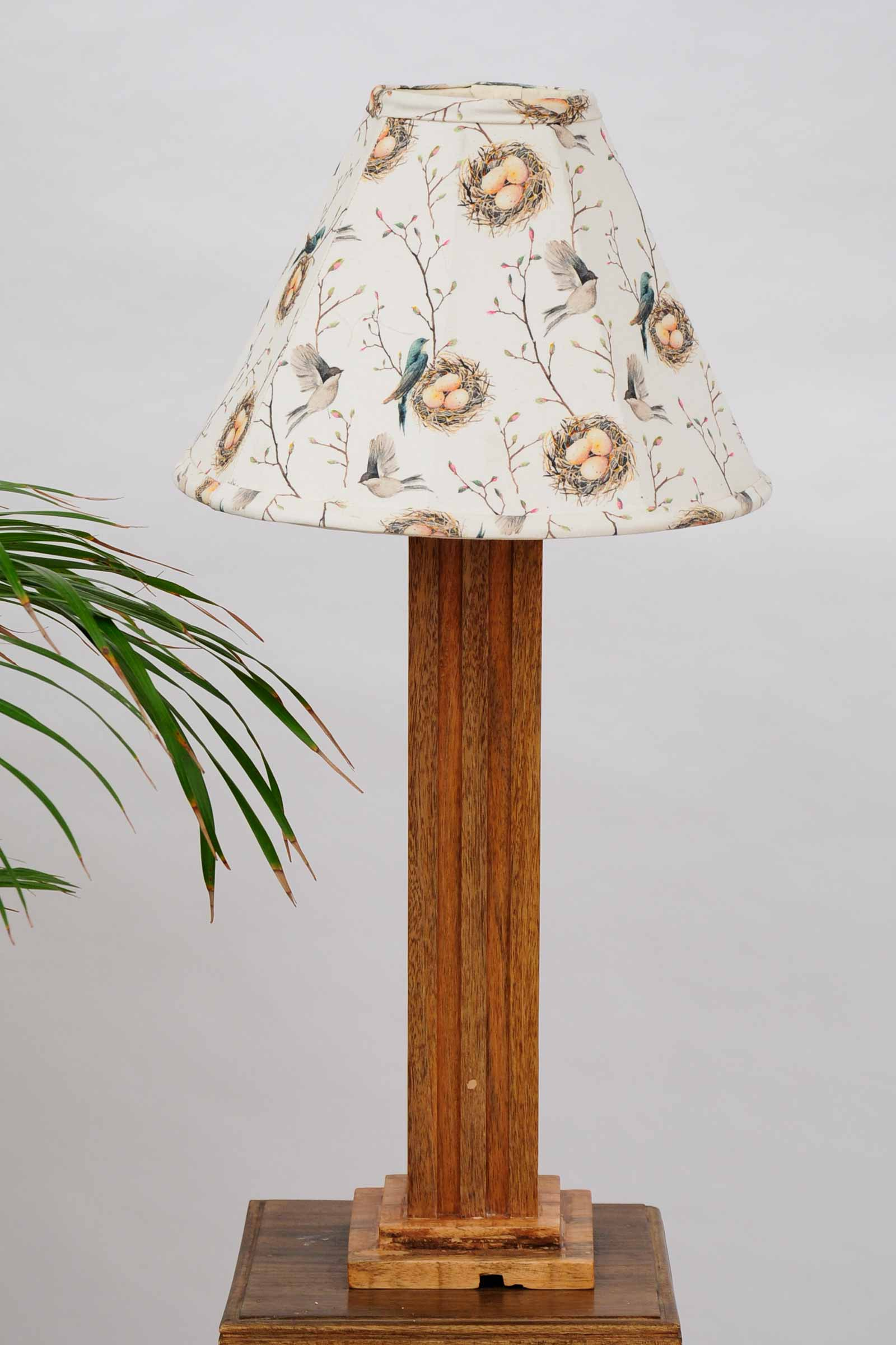 Birds nest lamp shade