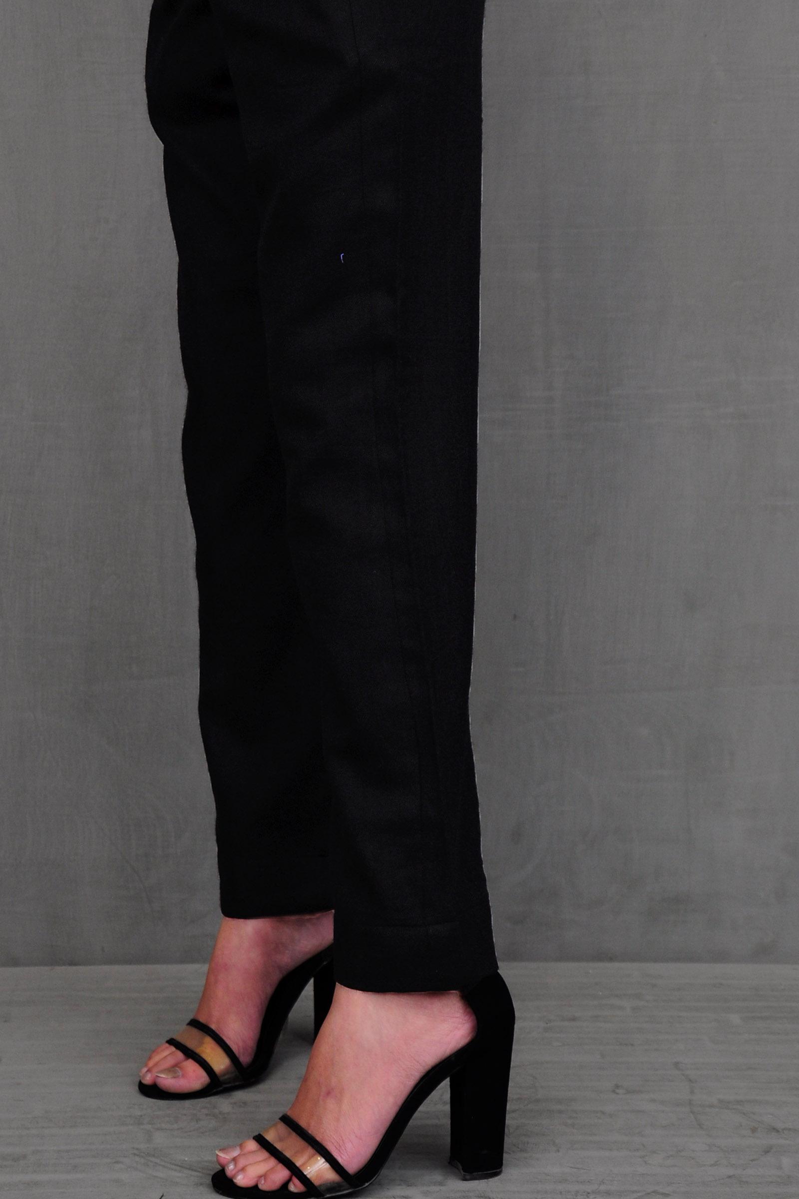 Plain Wool Cigarette Pant