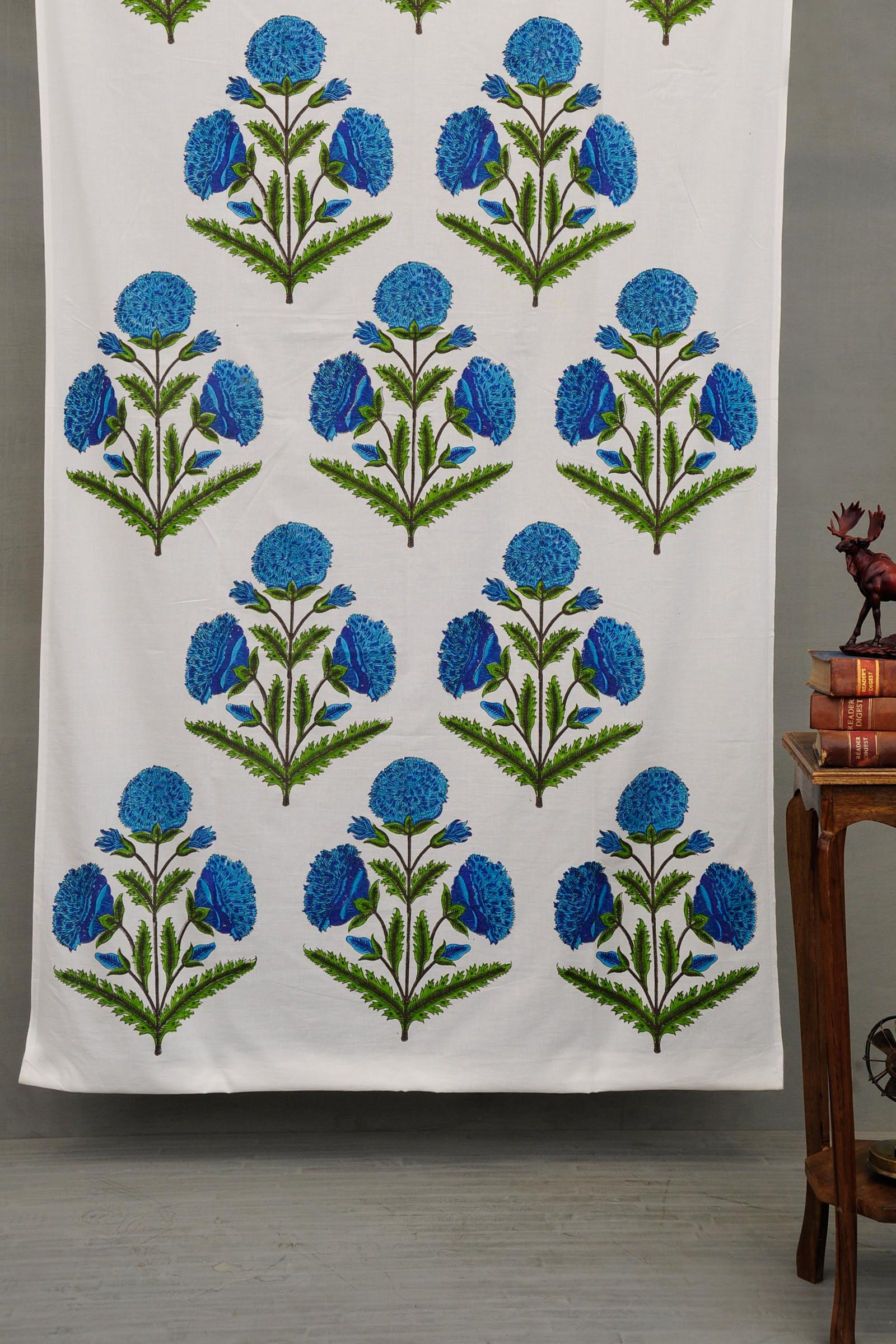 Blue Poppies Fabric