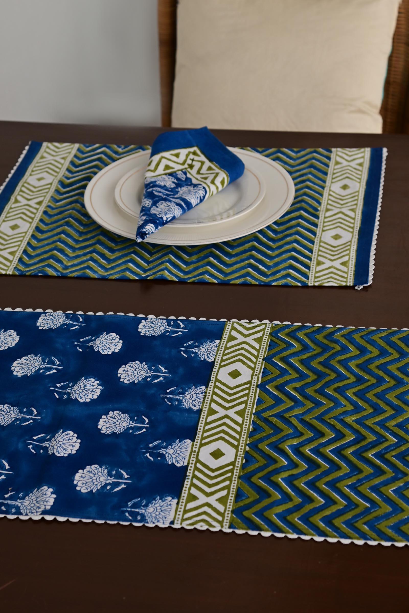 Blue Harmony Table Runner