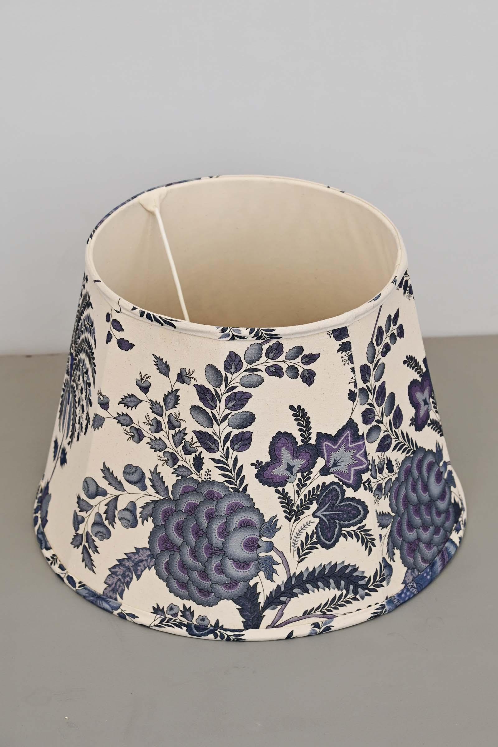 Blue China Large Lamp Shade