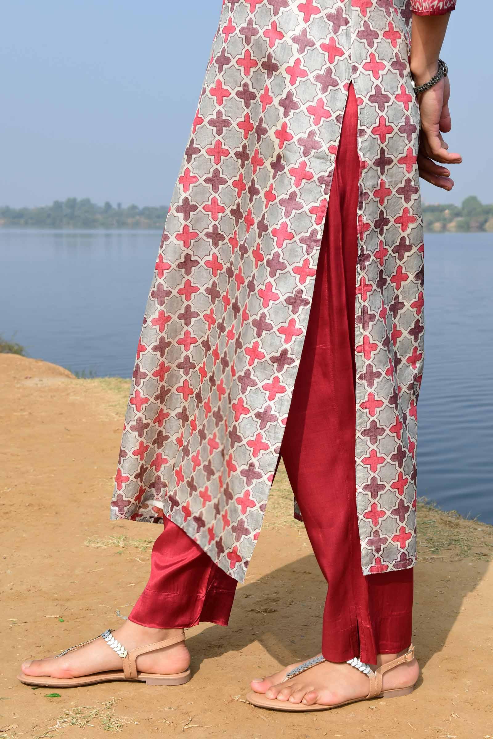 Karmic Connection Assam Silk Cigarette Pant
