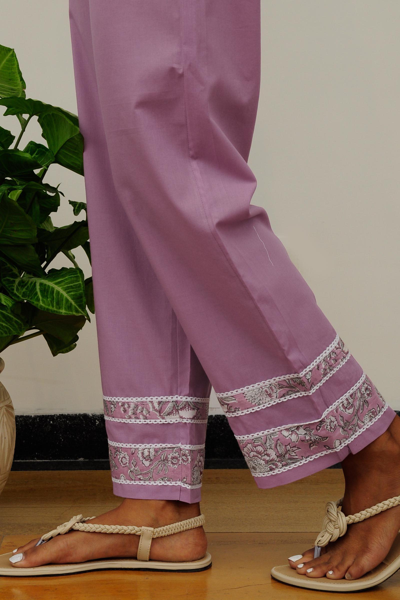 Purple Rains Cigarette Pant