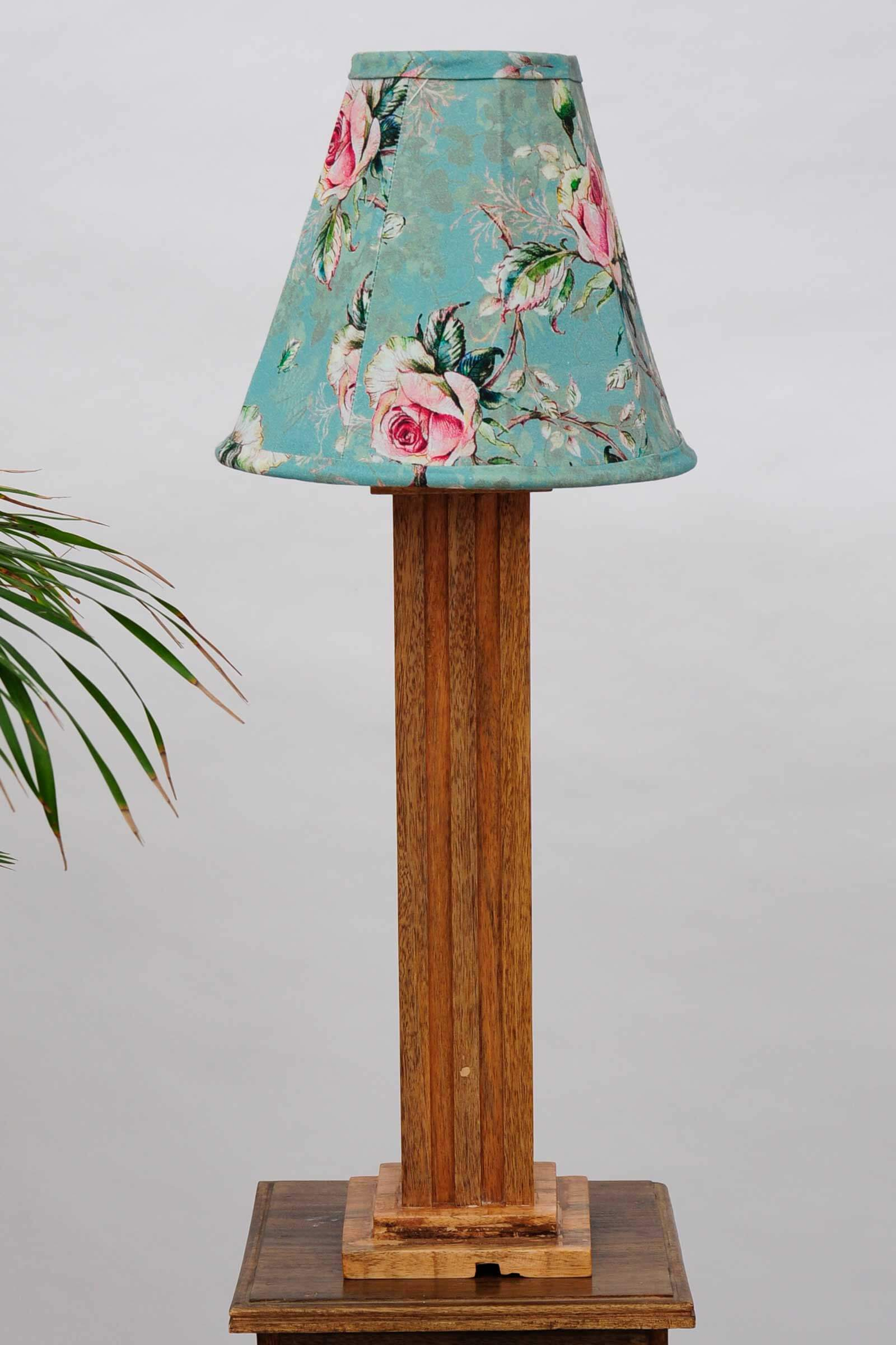 Vintage rose lamp shade