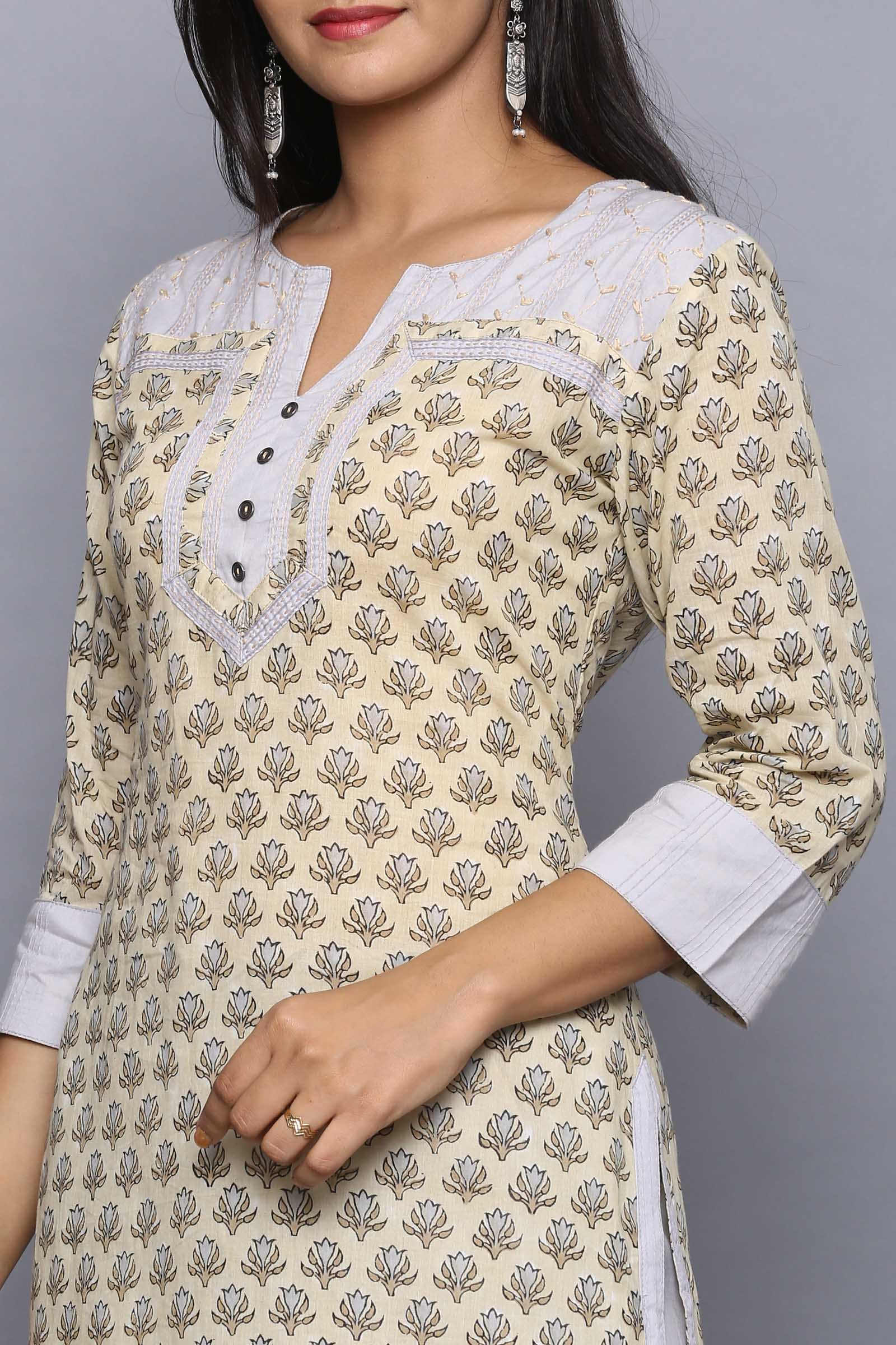 Coffee Morning Cotton Kurta