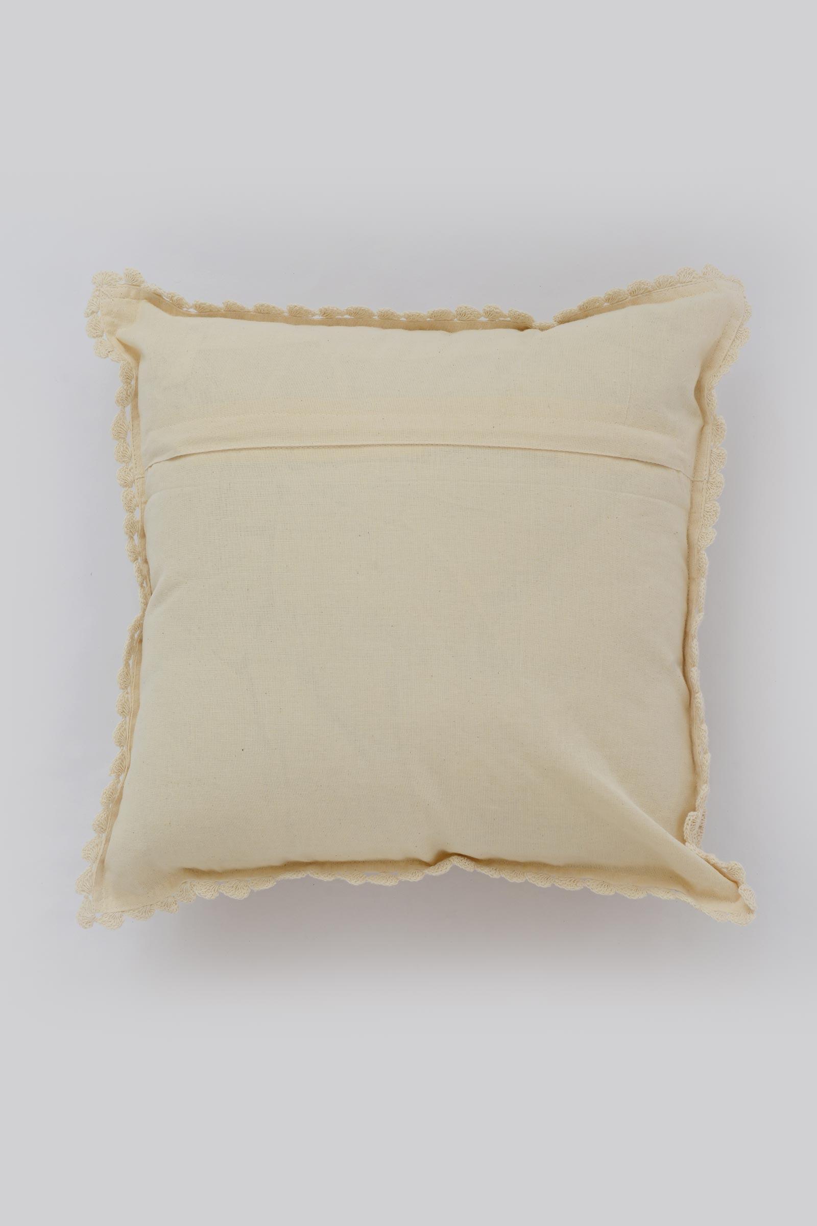 Crochet Diamond Cushion Cover