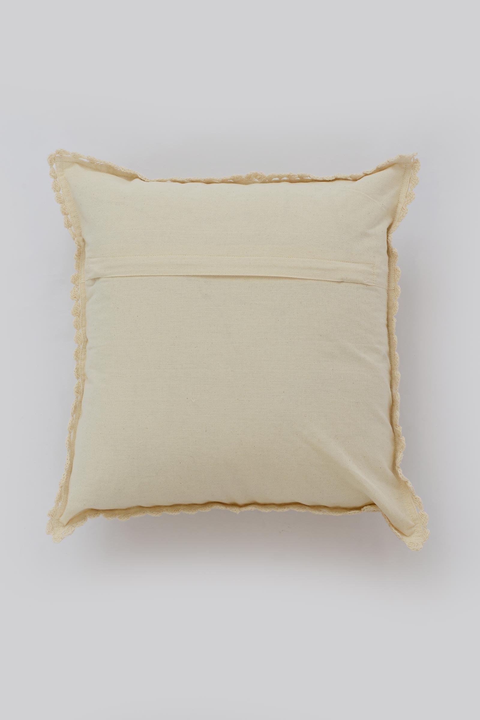 Crochet Border Cushion Cover