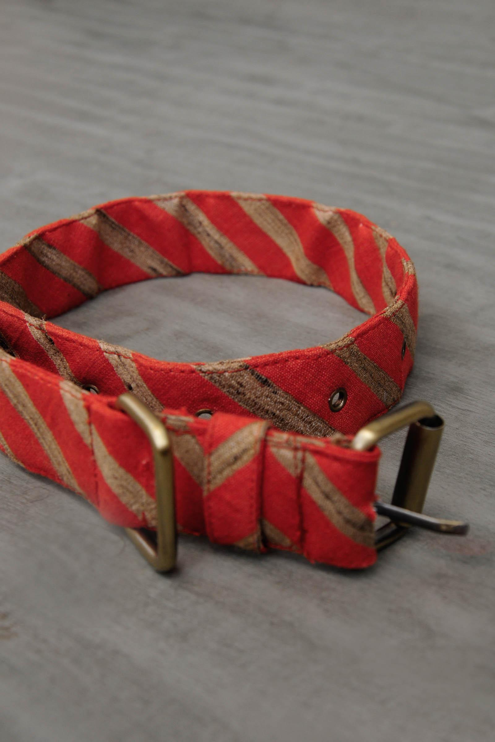 Stripe Collar-Red
