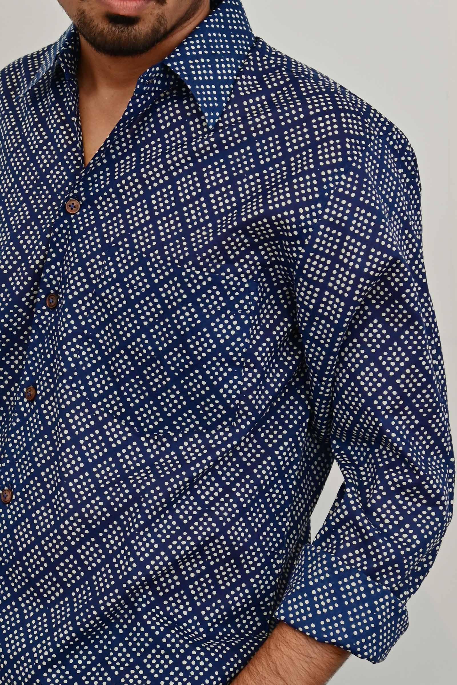 Spot Diamond Blue Shirt F/S