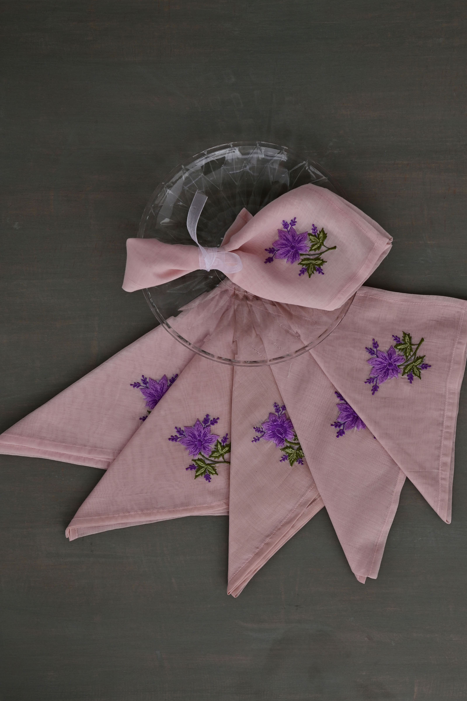 Lavender Bloom Napkin Set Of 6