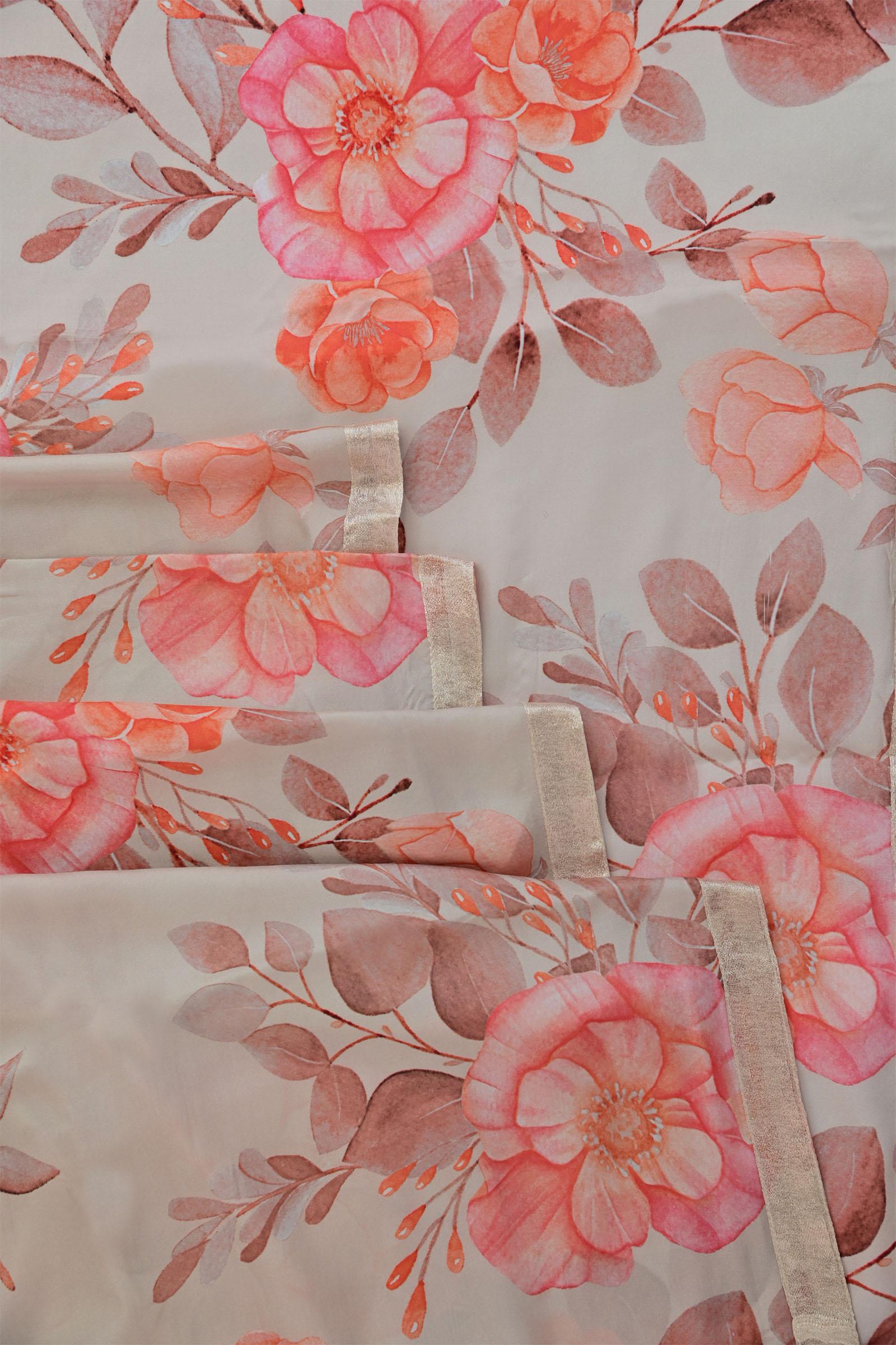 Peach Nectar Saree