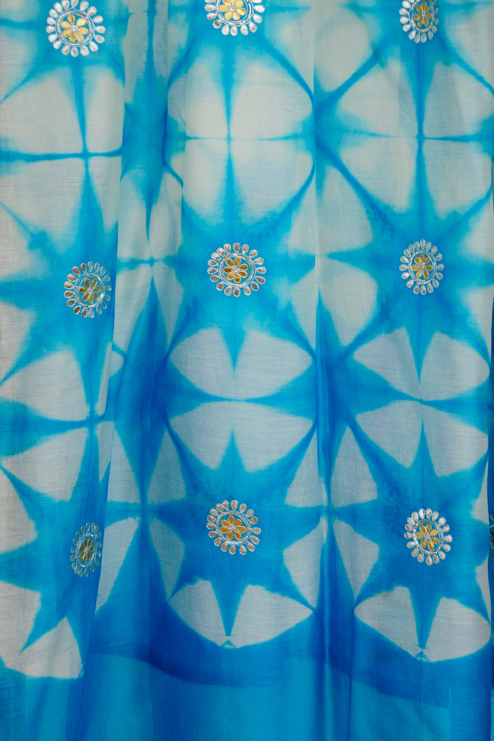 Gota Patti Blue Dupatta