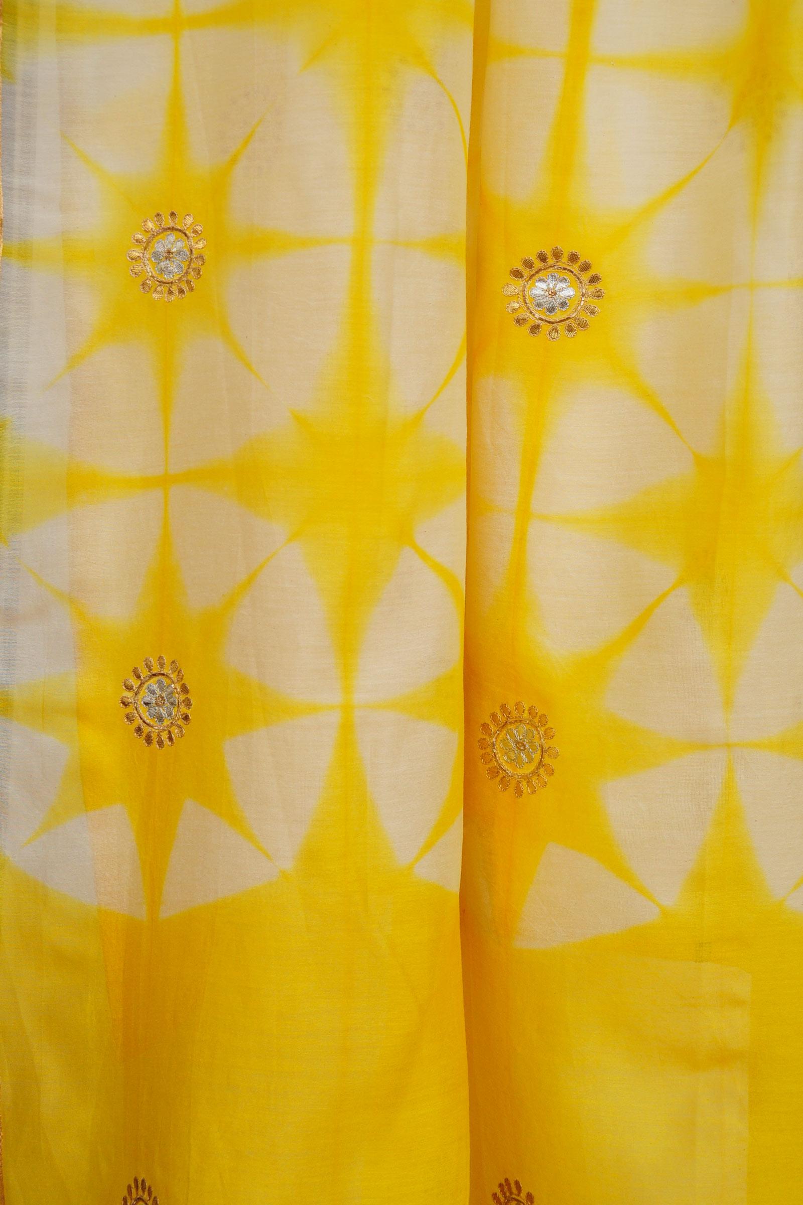 Gota Patti Yellow Dupatta