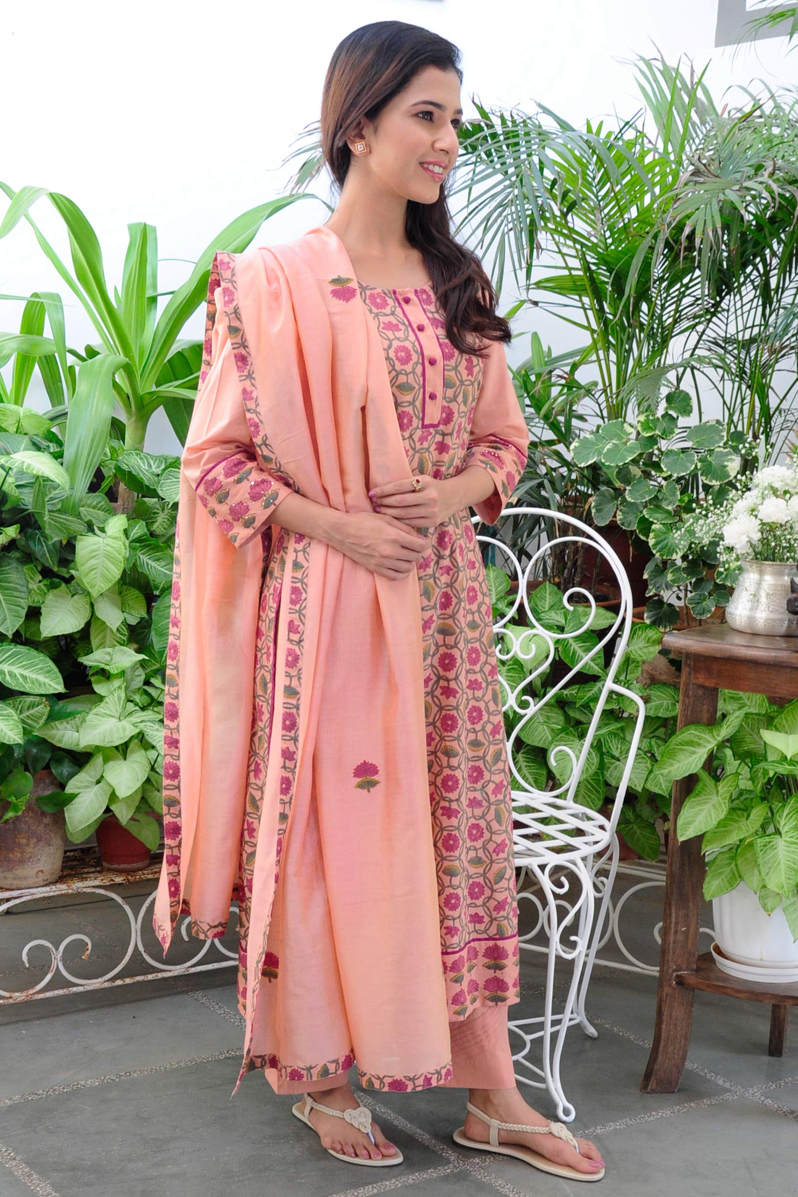 Peach Vacation Dupatta