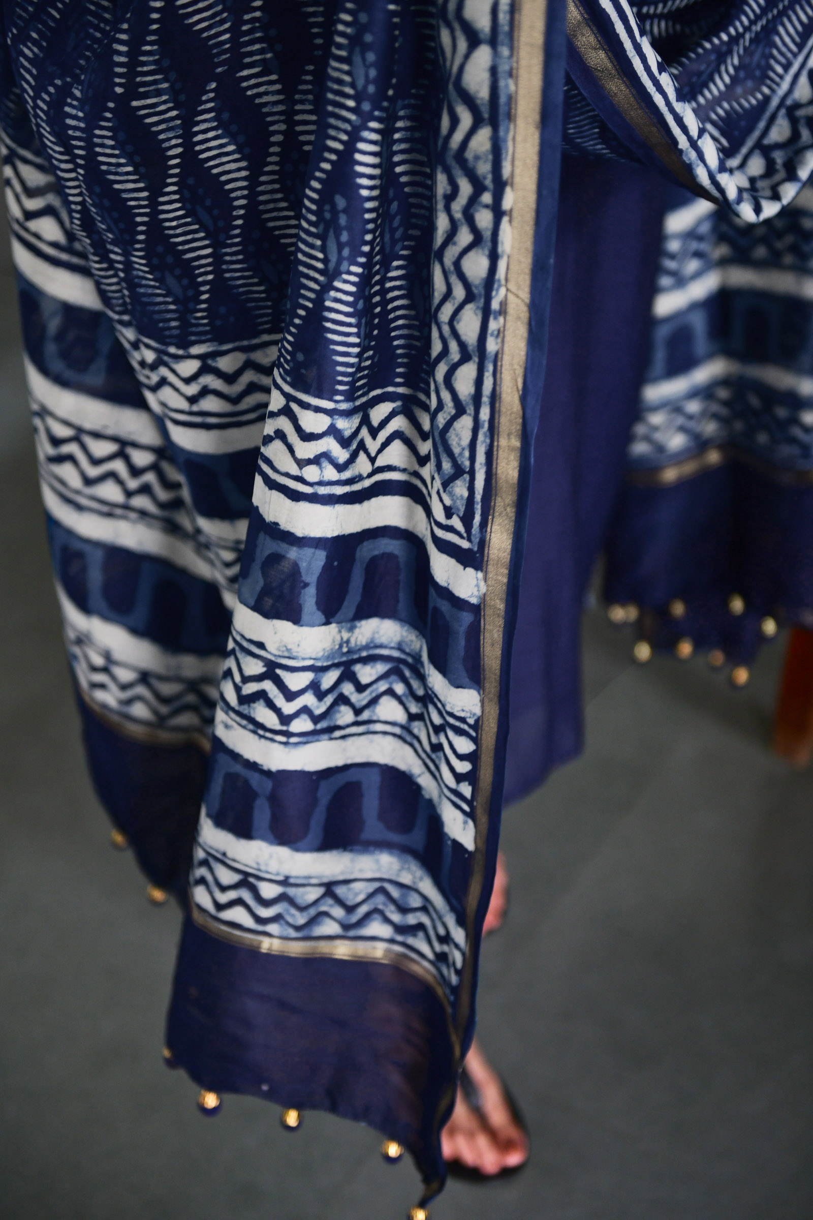 Indigo Waves Dupatta