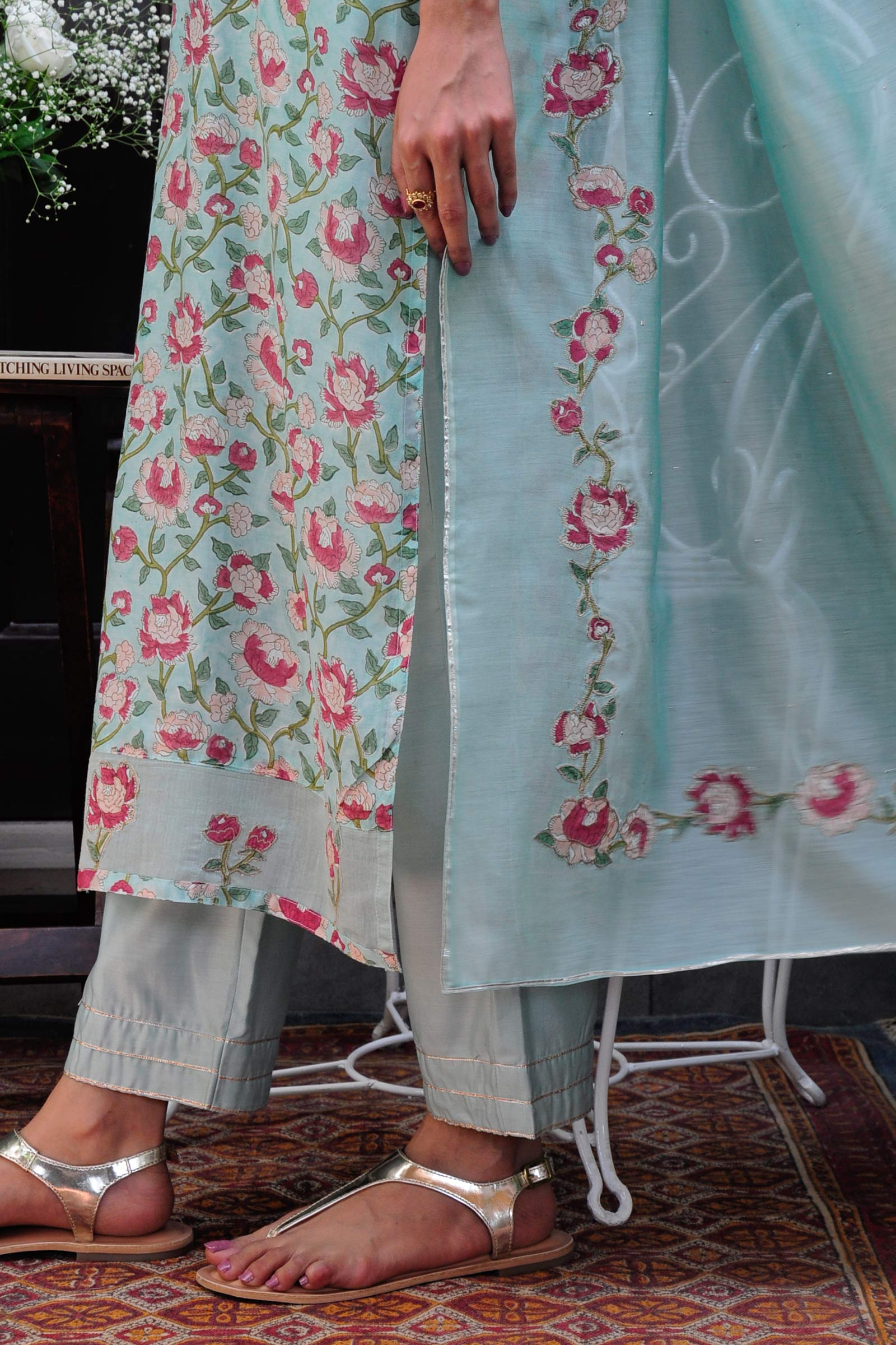 English Garden Dupatta