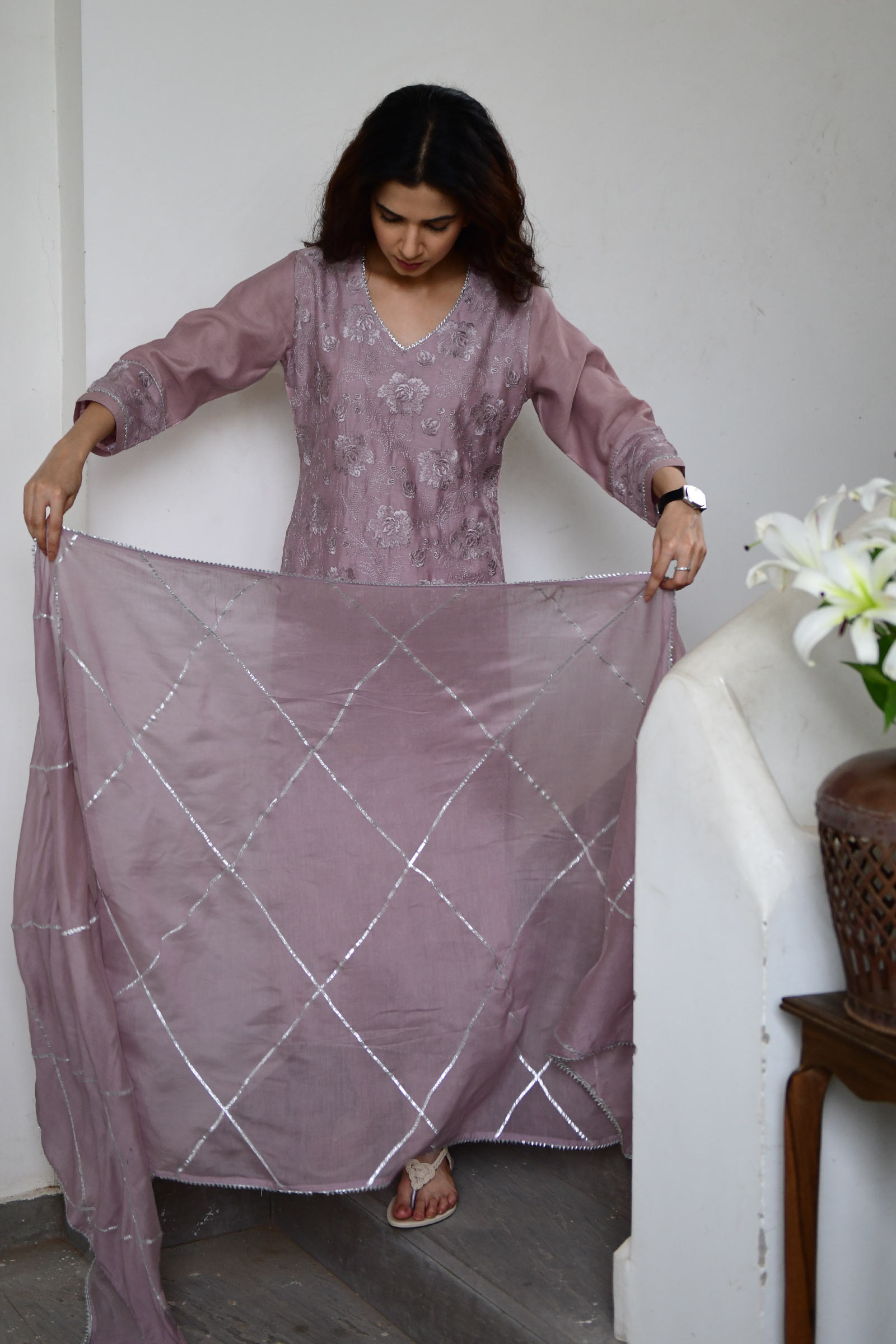 Mauve Magic Dupatta