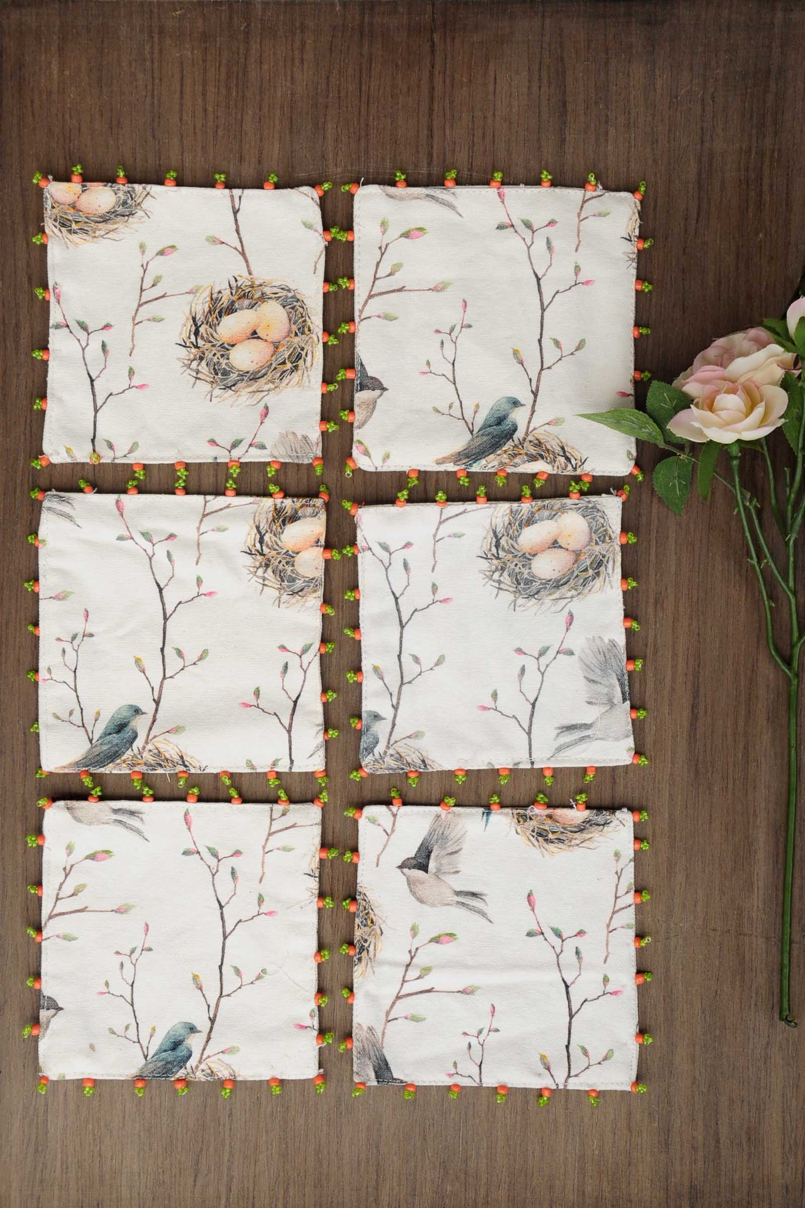 Birds Chintz Coaster Set Of 6