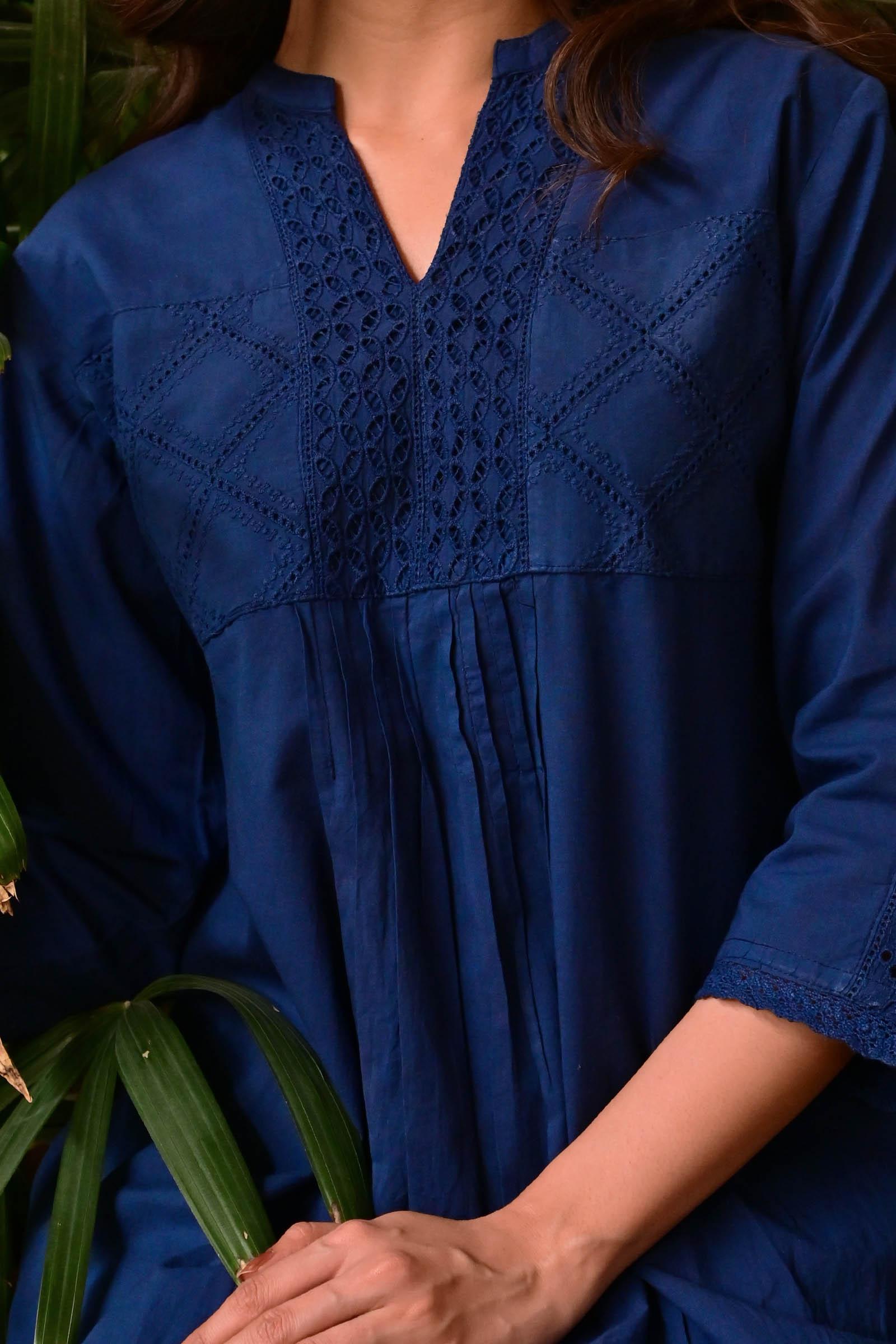 Enchanted Blue Cotton Kurti