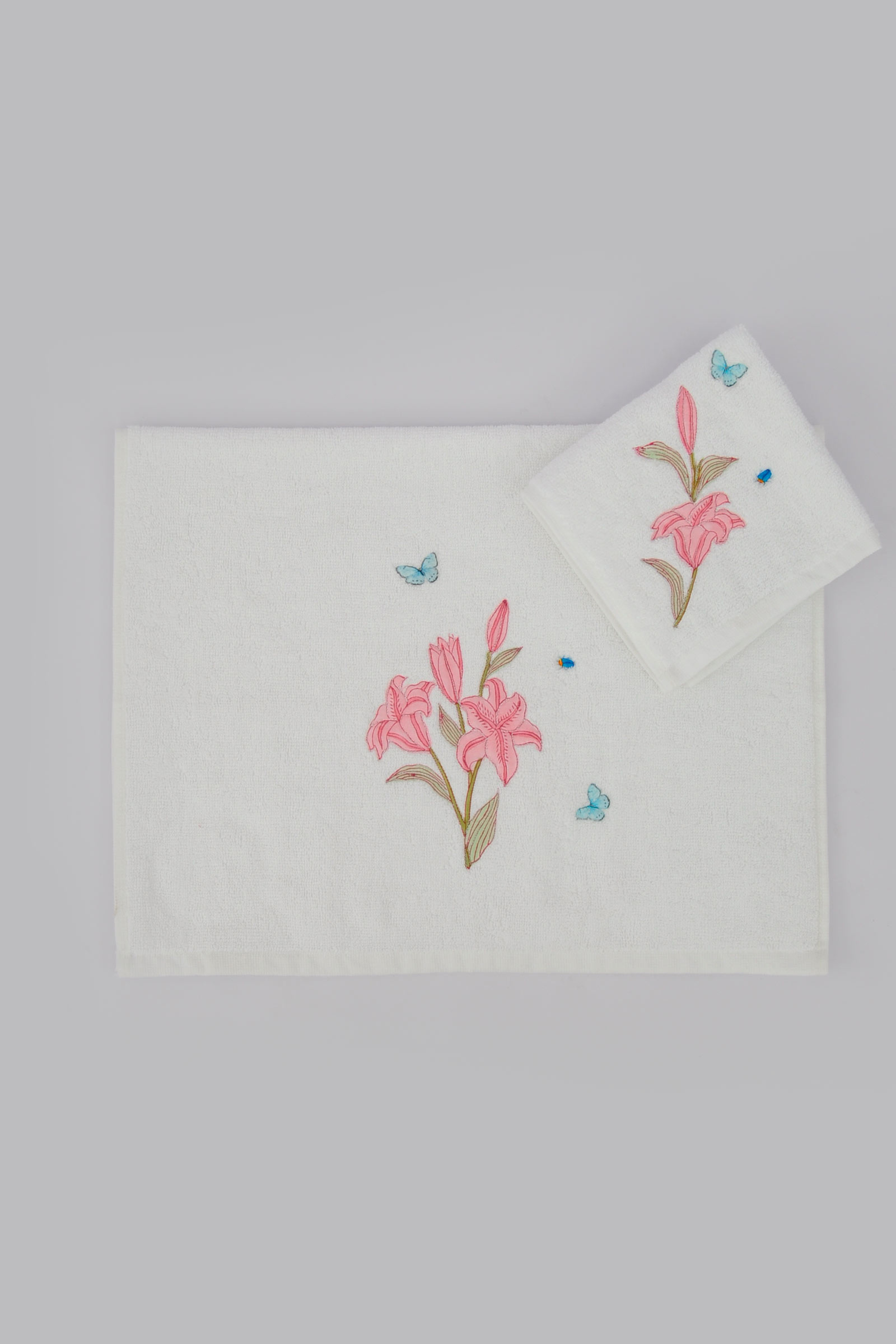 Lilium Face Towel ( Set Of 2)