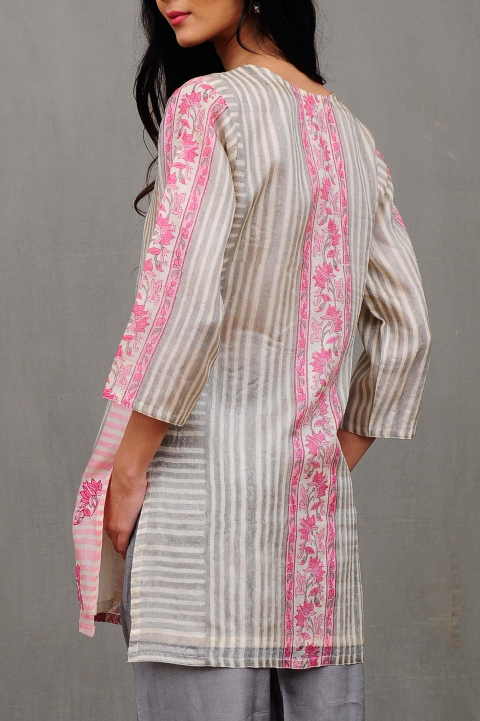 French Elegance Silk Kurti